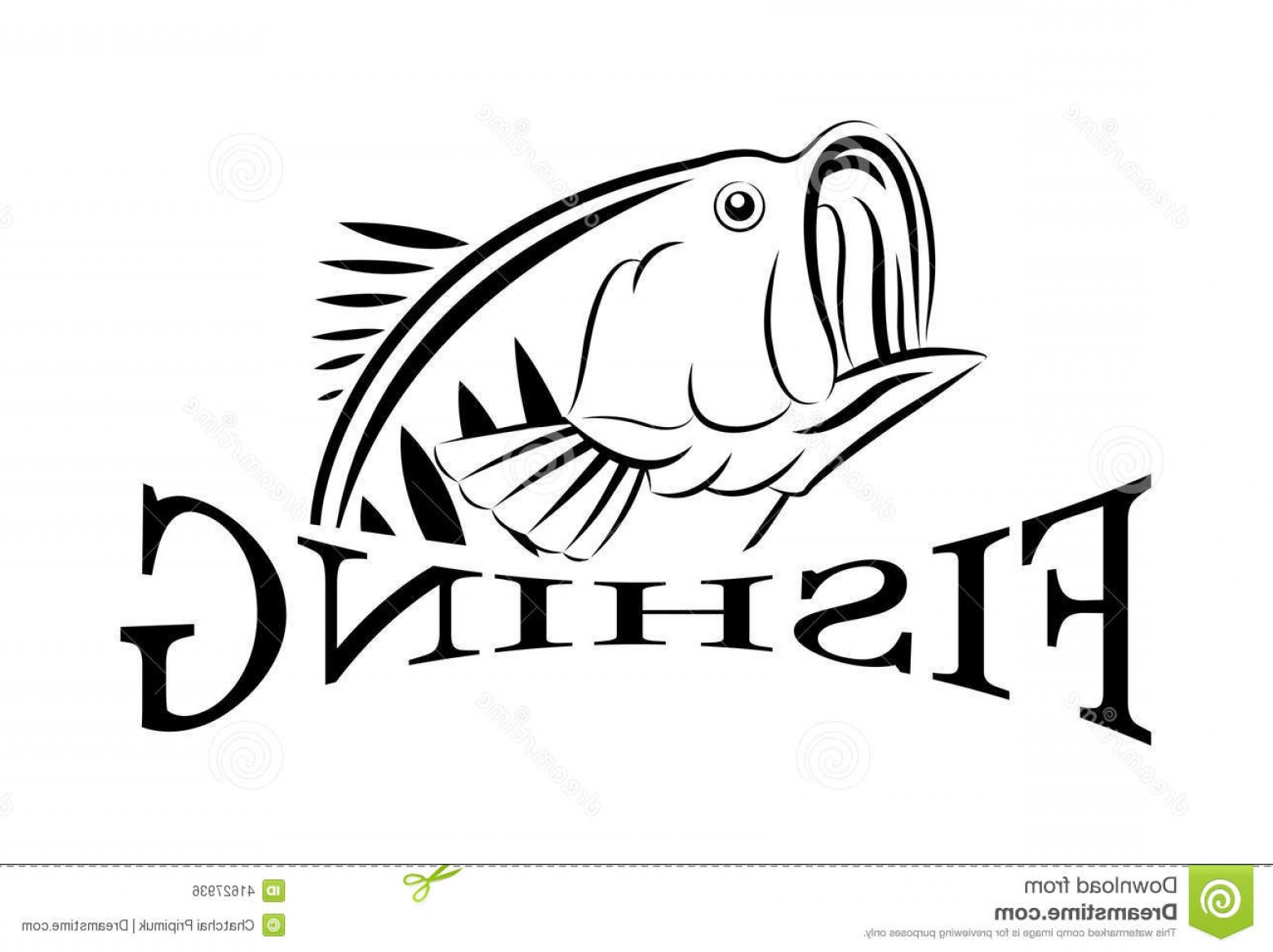 Fish Vector Graphic: Stock Illustration Vector Fishing Design Illustration Symbol Sport Graphic Image