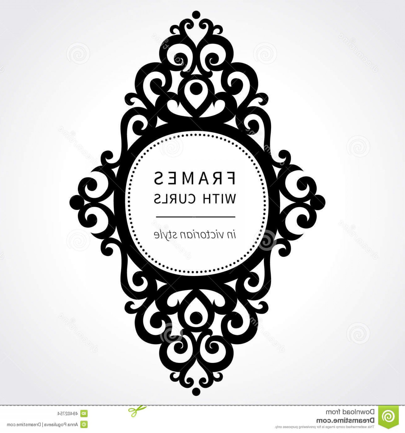 Victorian Style Frame Vector: Stock Illustration Vector Frame Classical Ornament Victorian Style Ornate Element Design Vignettes Your Text Pattern Wedding Image