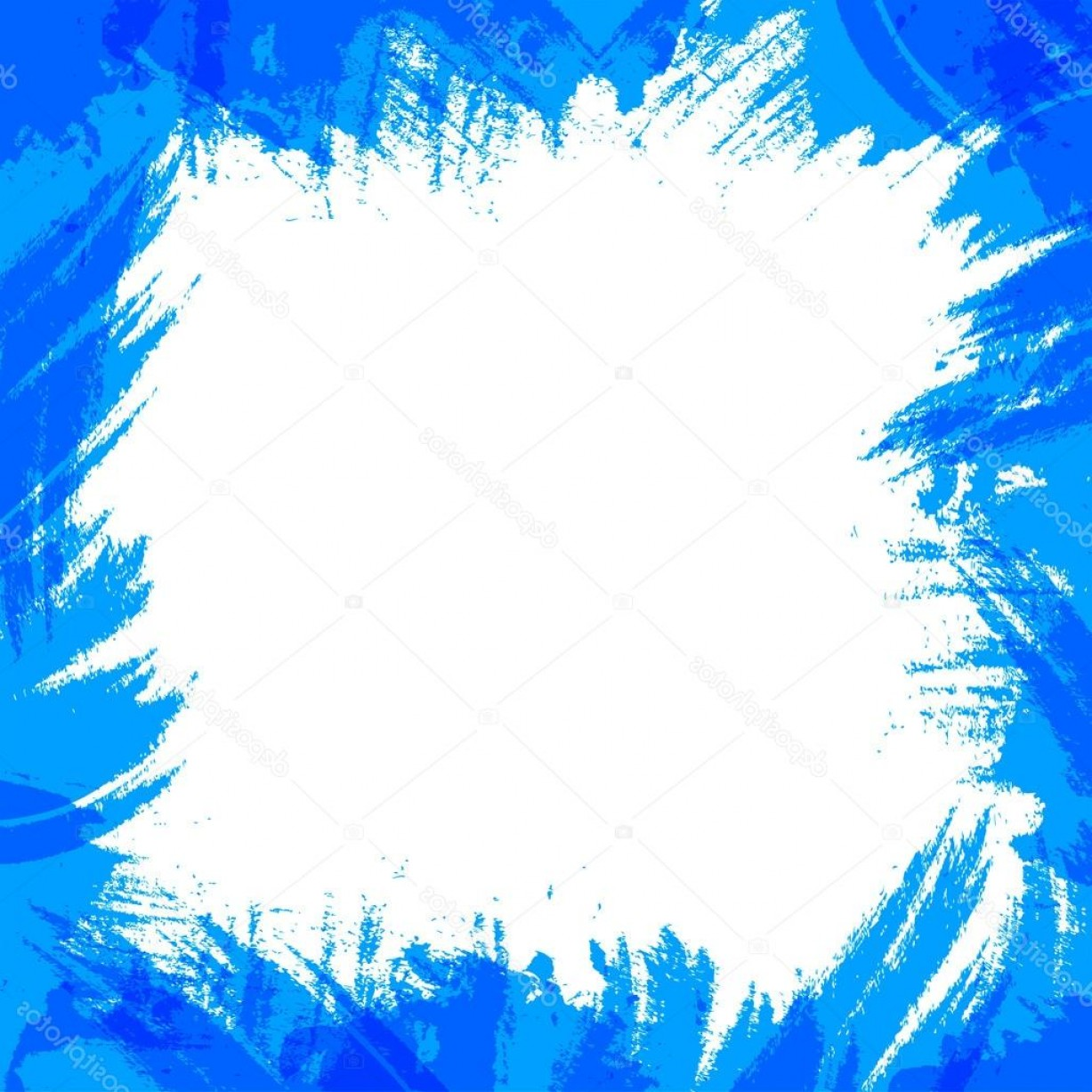 Blue With White Background Vector: Stock Illustration Vector Frame With Dark Blue
