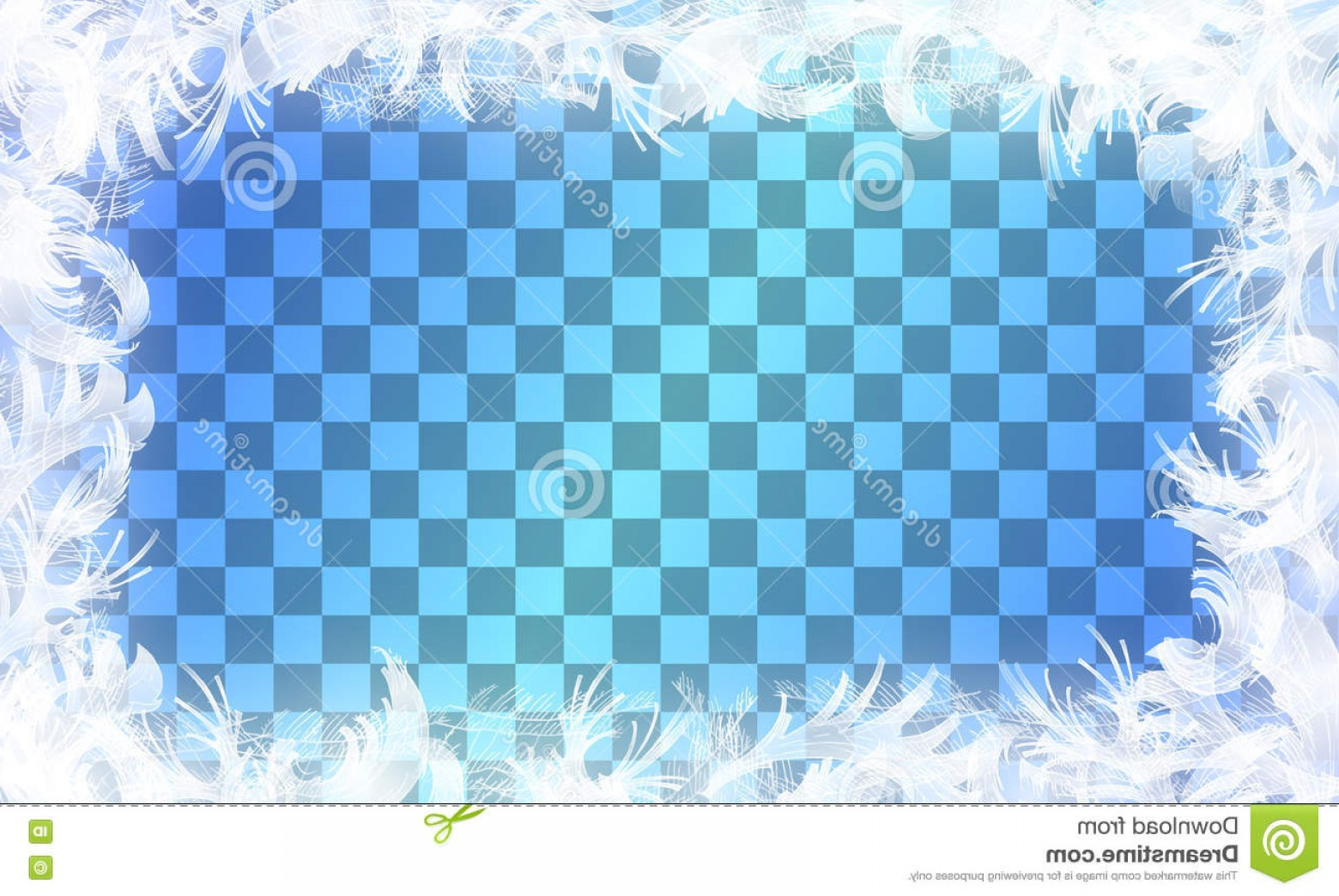 Frost Border Vector: Stock Illustration Vector Frost Glass Pattern Winter Frame Transparent Background Christmas Illustration Image