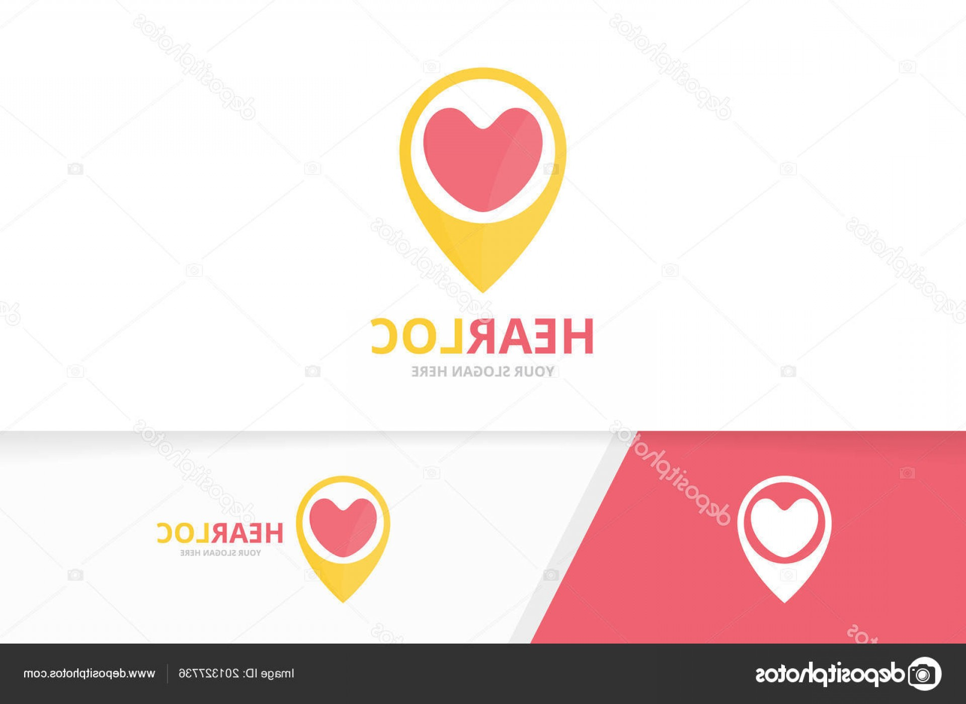Unique Pointer Vector: Stock Illustration Vector Heart And Map Pointer