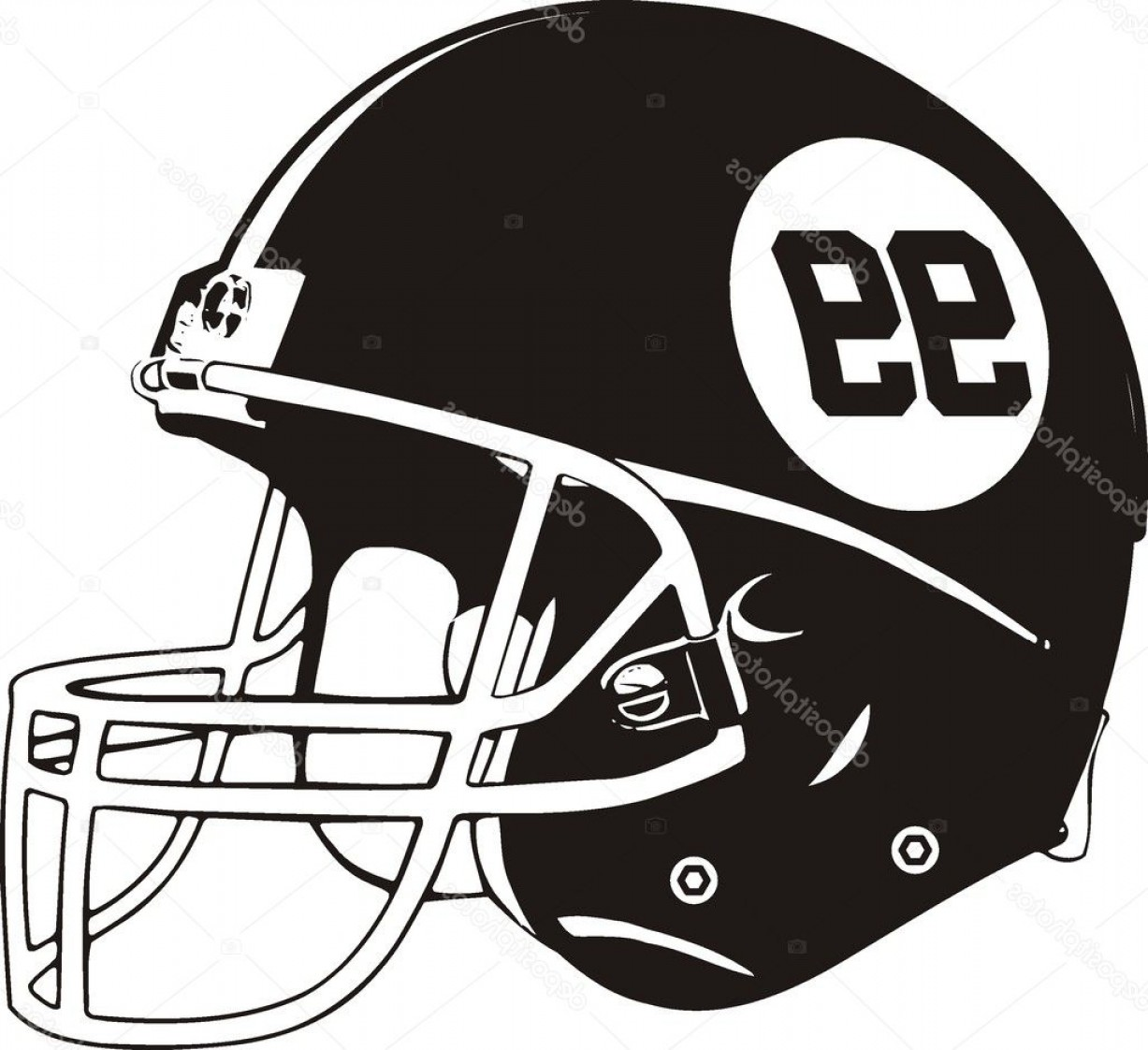High Res Vector American Football: Stock Illustration Vector Helmet American Football