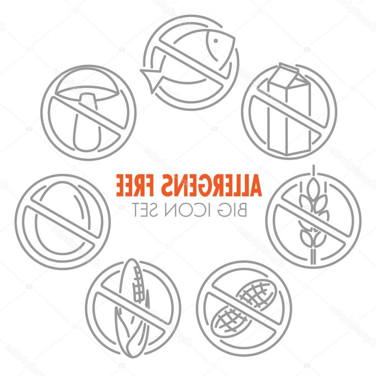 Vectores Para Descargar Gratis: Stock Illustration Vector Icons For Allergens Free