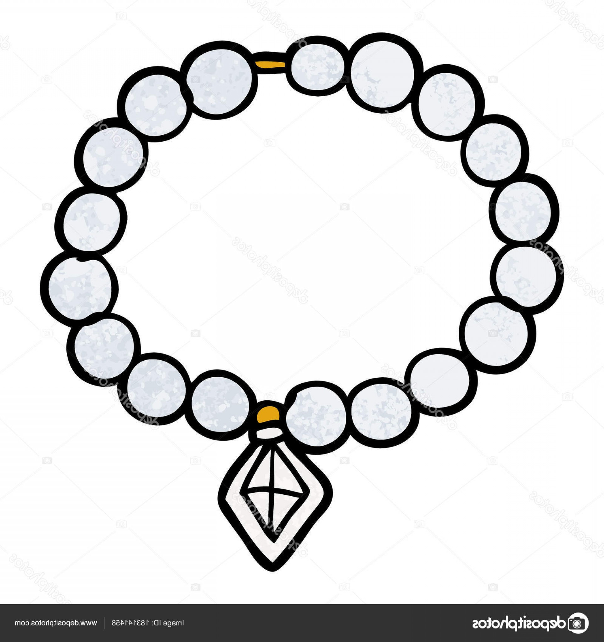 Pearl Necklace Vector Clip Art: Stock Illustration Vector Illustration Cartoon Pearl Necklace