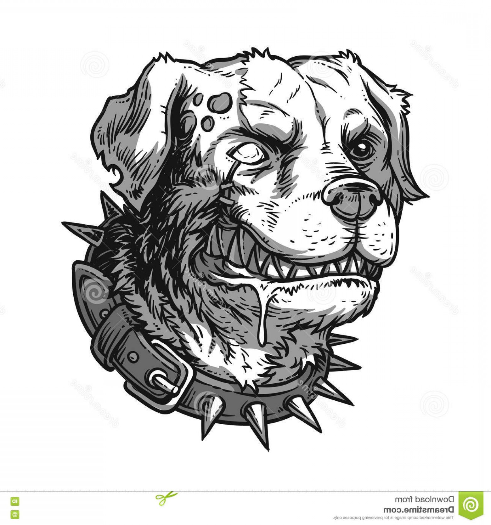 Mad Vector: Stock Illustration Vector Illustration Evil Mad Dog Grinning Teeth Image