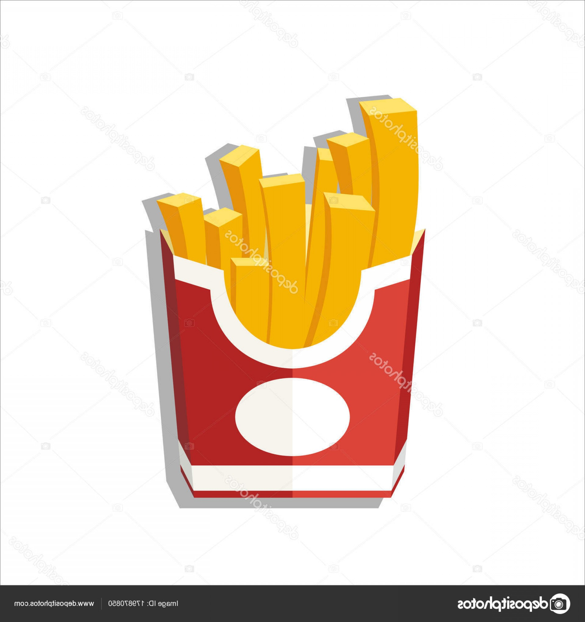 Fries Vector: Stock Illustration Vector Illustration French Fries Vector