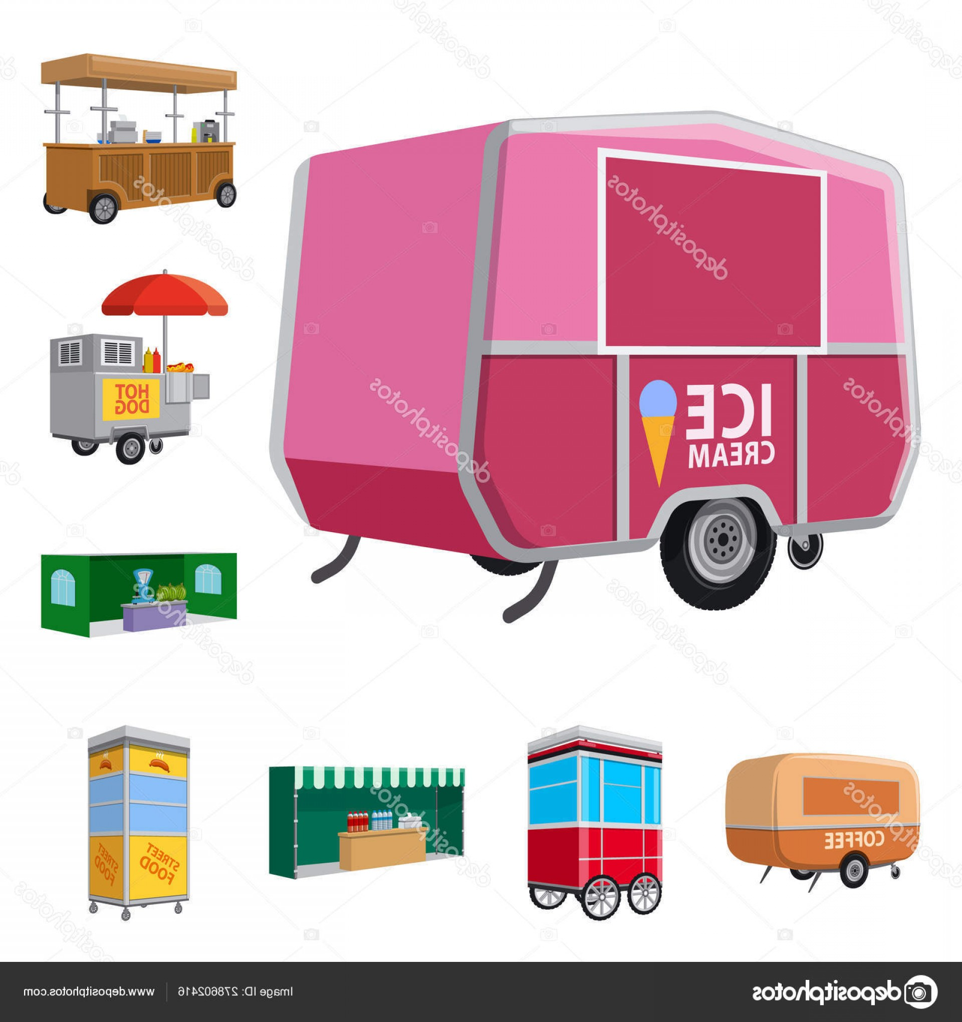 Commercial Booth Vector: Stock Illustration Vector Illustration Of Booth And