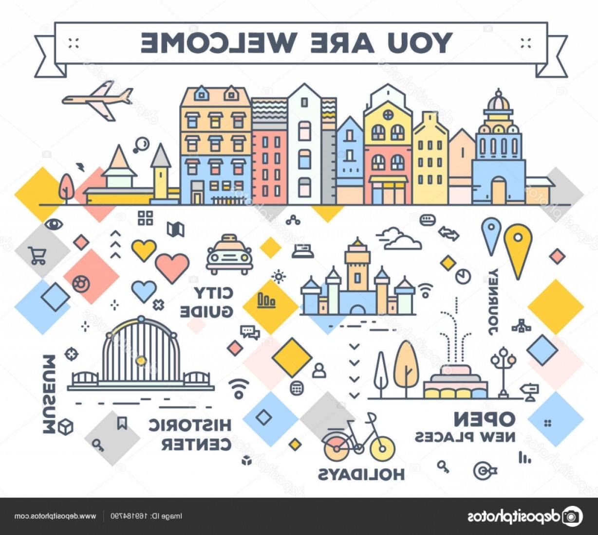Open VI Stock Vector: Stock Illustration Vector Illustration Of City With