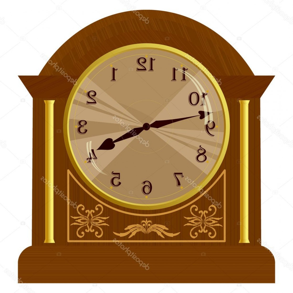 Old Floor Clock Vector: Stock Illustration Vector Illustration Of Old Floor
