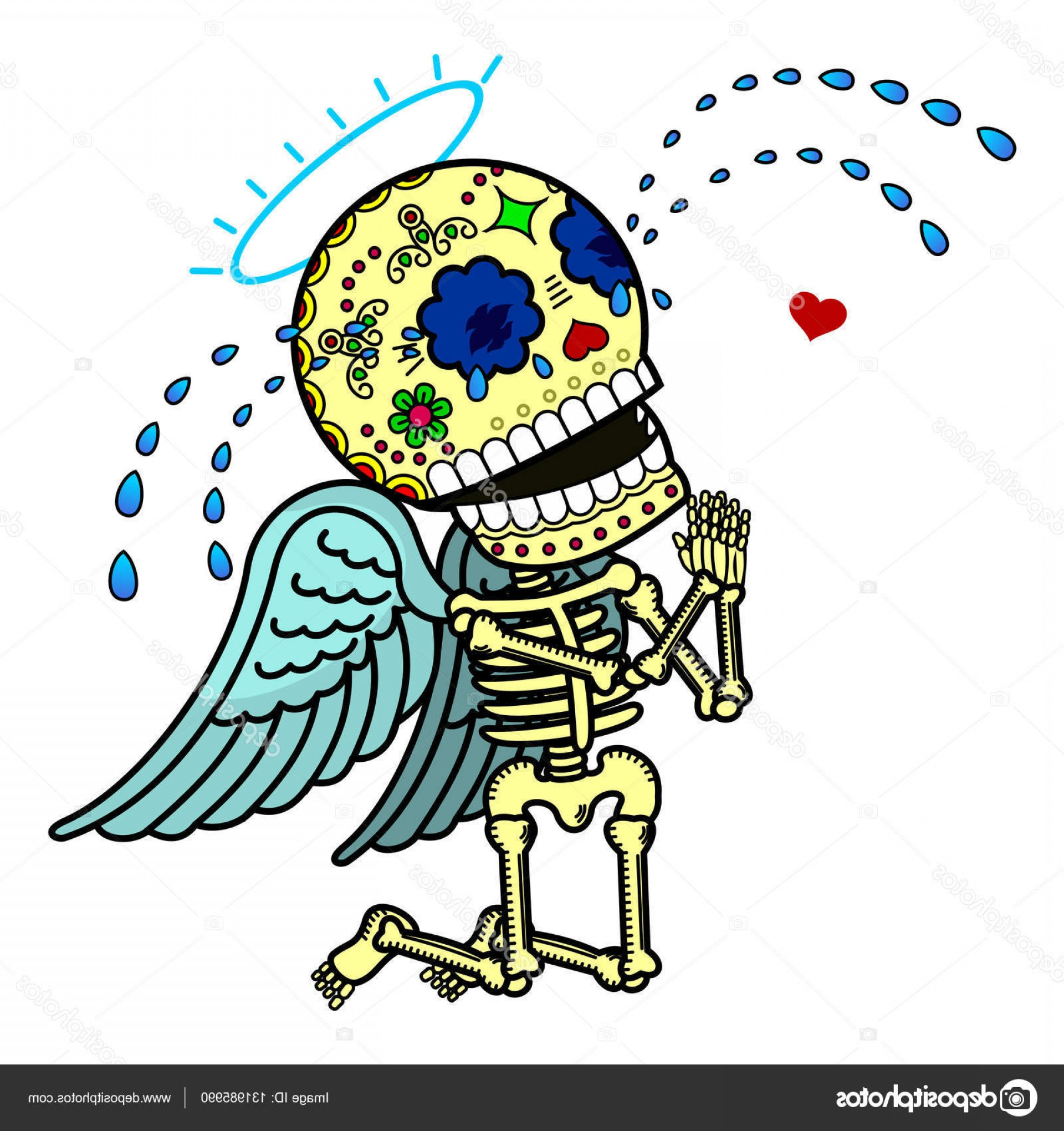 Skeletons In Love Vector: Stock Illustration Vector Illustration Of Skeletons