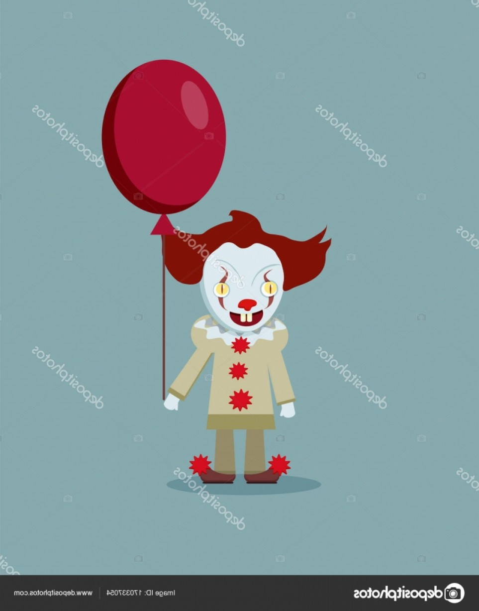 Pennywise Clown Vector: Stock Illustration Vector Illustration Of The Scary