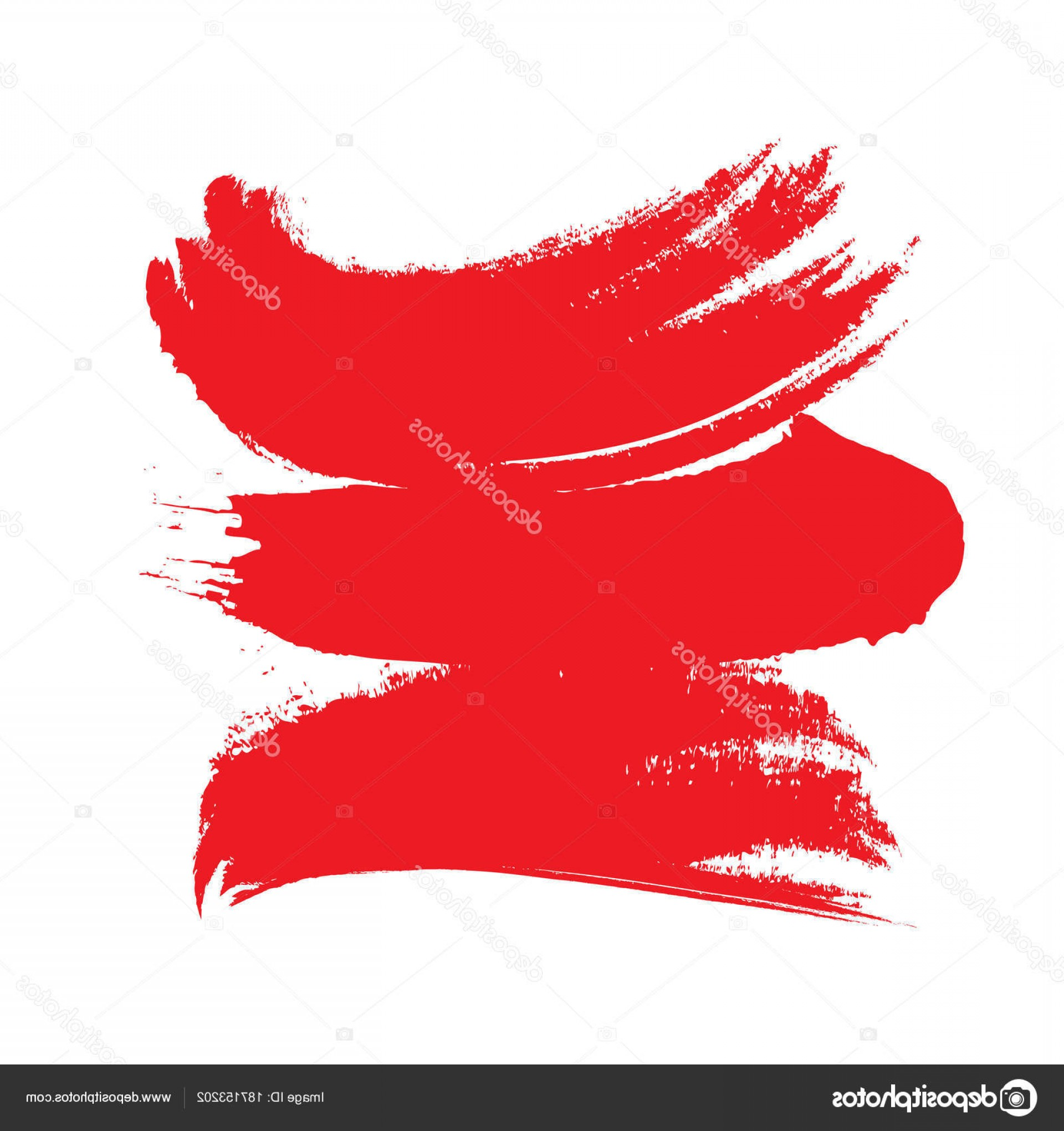 Distressed Red Background Vector: Stock Illustration Vector Illustration Red Curved Paint