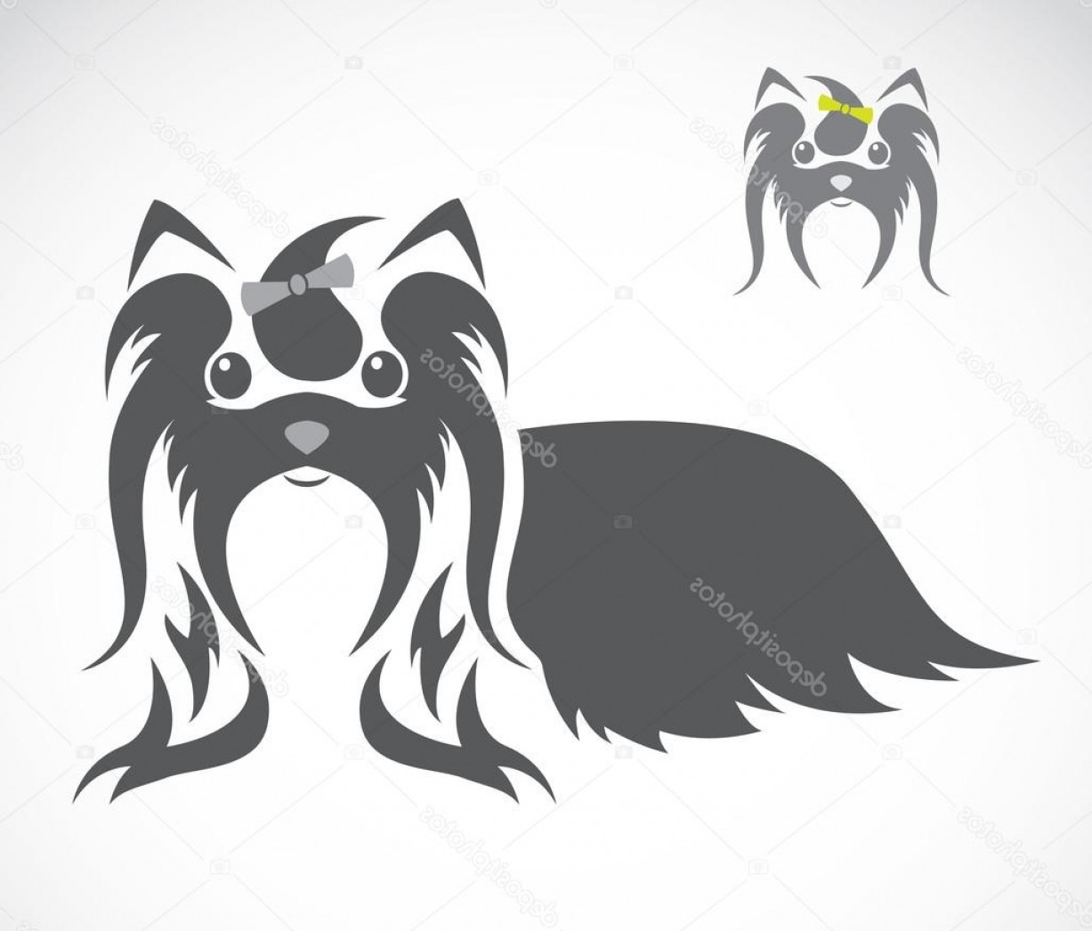Shih Tzu Vector Siluete: Stock Illustration Vector Image Of An Shih