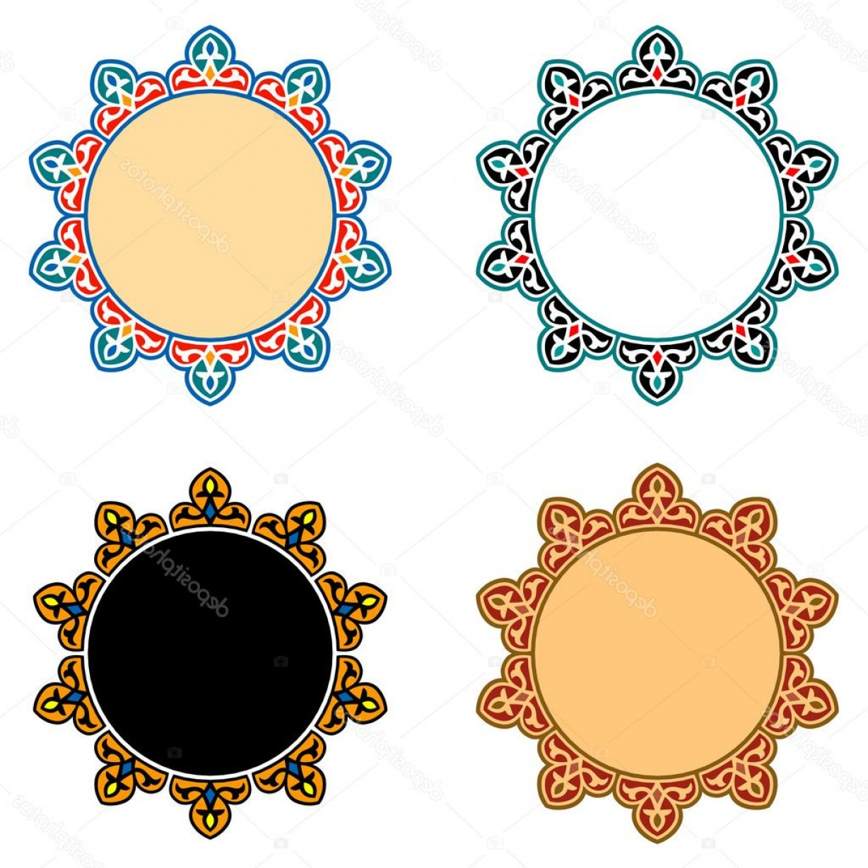 Open Source Vector Graphic Flower: Stock Illustration Vector Islamic Star Ornaments