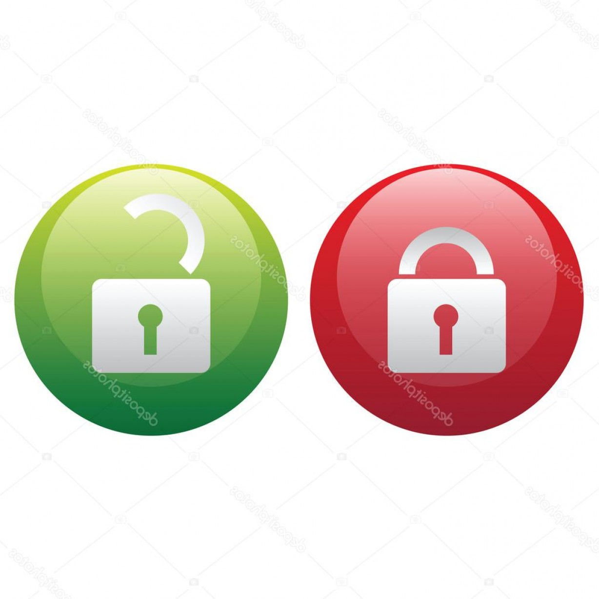 Lock Unlock Icon Vector: Stock Illustration Vector Lock Unlock Illustration Icons