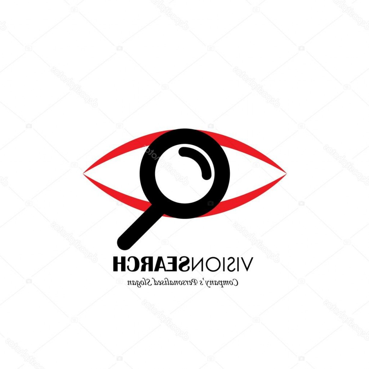 Eye Vector Logo: Stock Illustration Vector Logo Icon Of Eyes