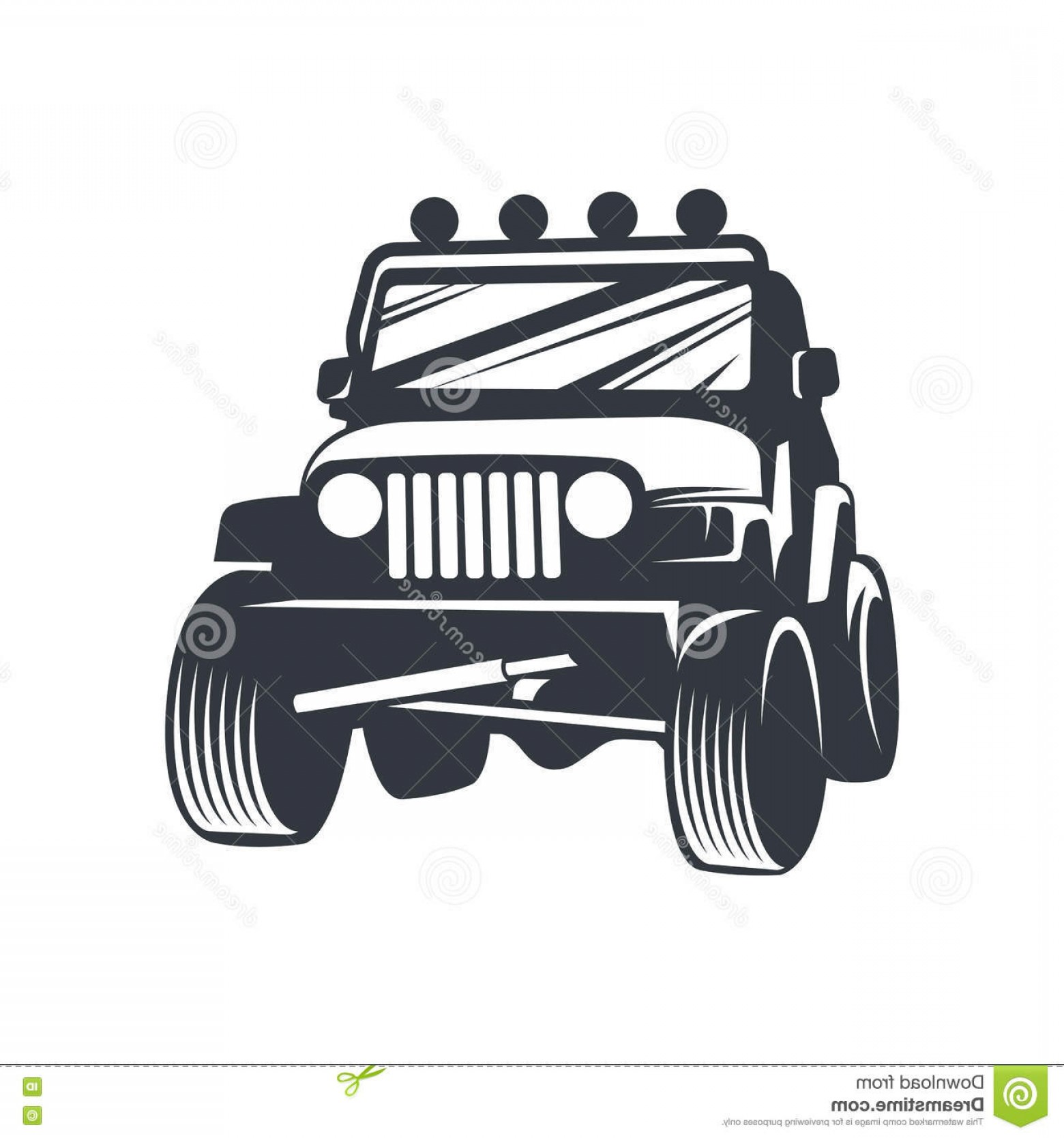 Jeep Off-Road Vector Art: Stock Illustration Vector Offroad Car Off Road Logo Emblem Badge Icon Illustration White Background Image