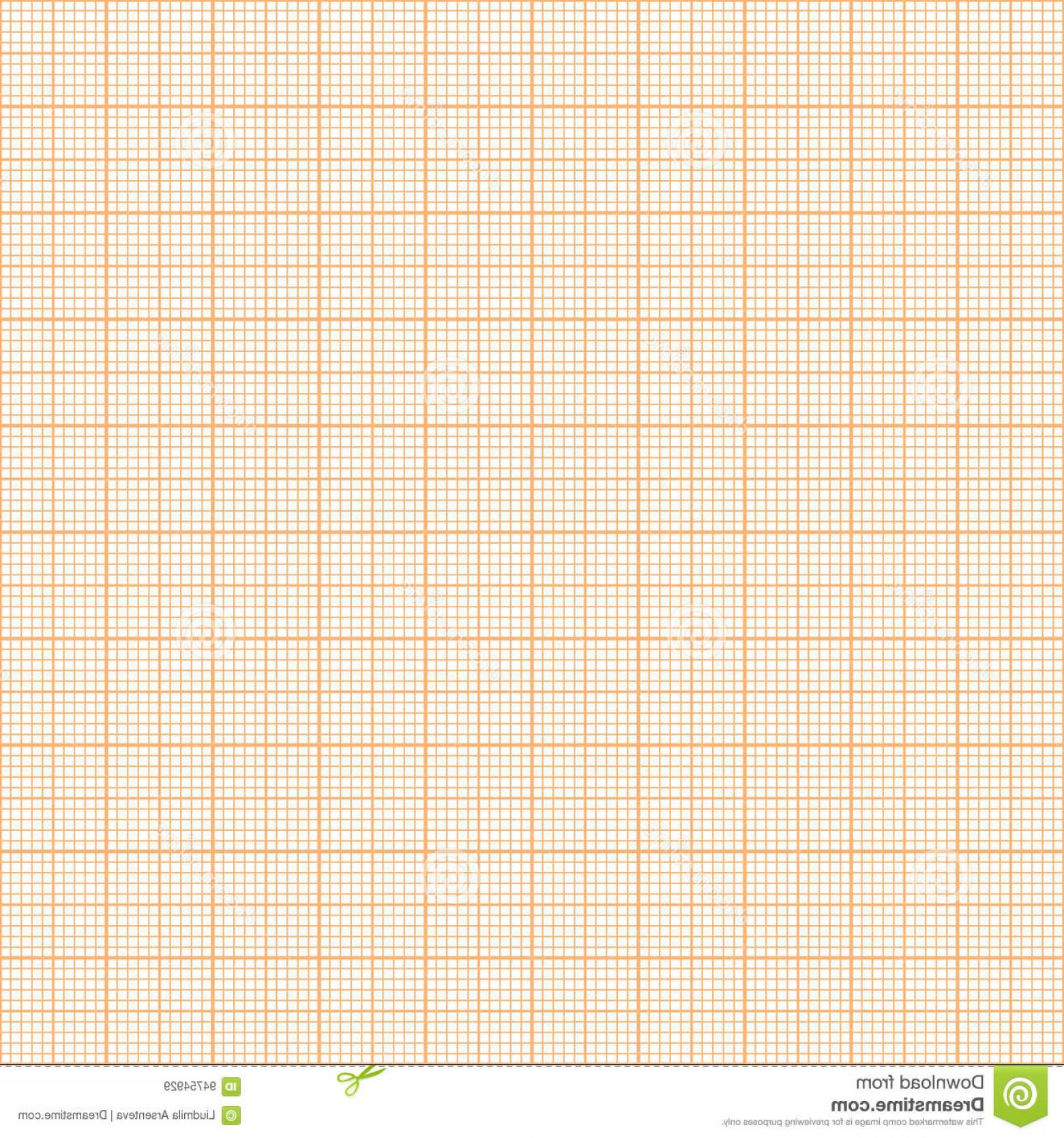 Security Vector Patterns: Stock Illustration Vector Orange Metric Graph Paper Seamless Pattern Mm Grid Accented Every Centimeter Image