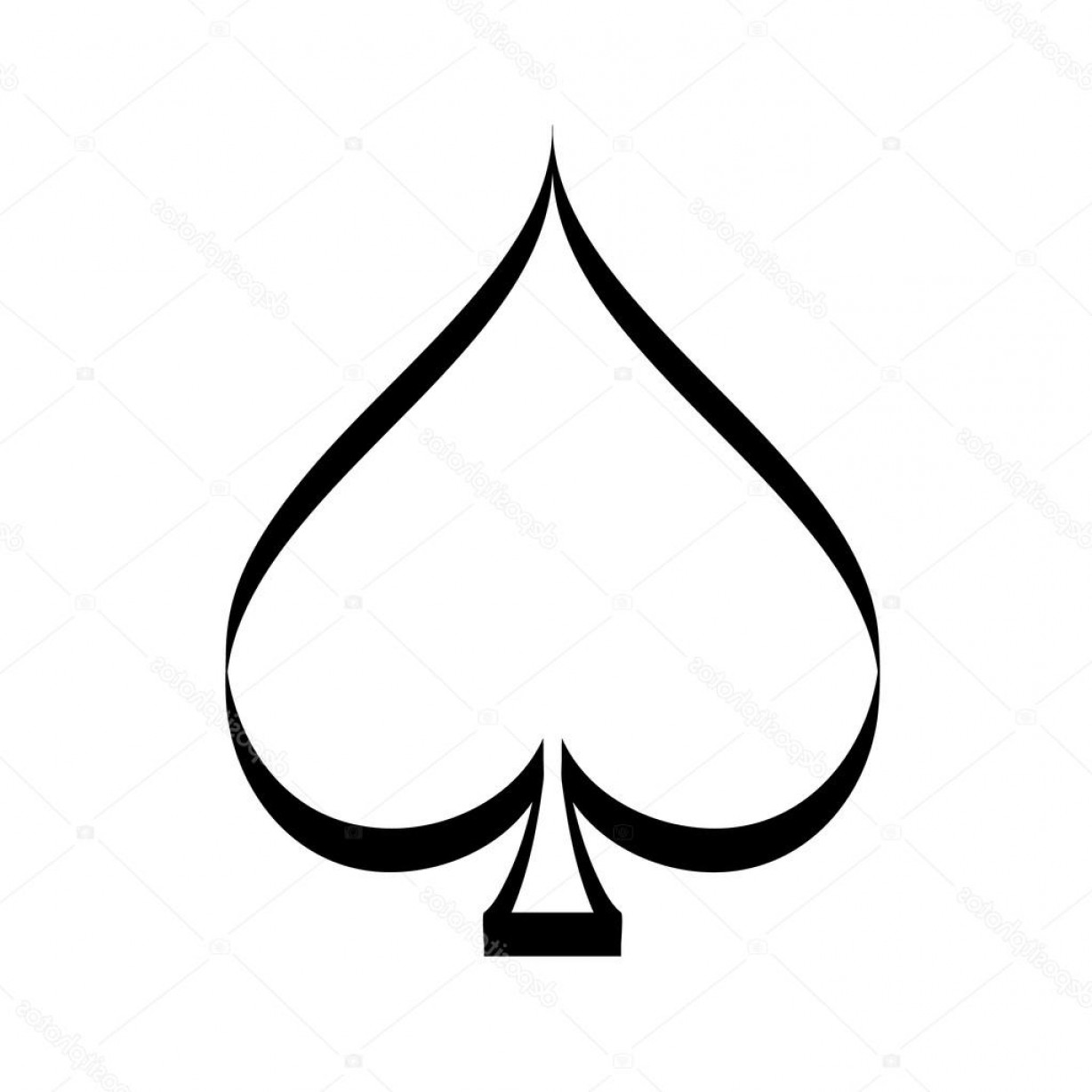 Spade Card Vector: Stock Illustration Vector Playing Card Spade Suit