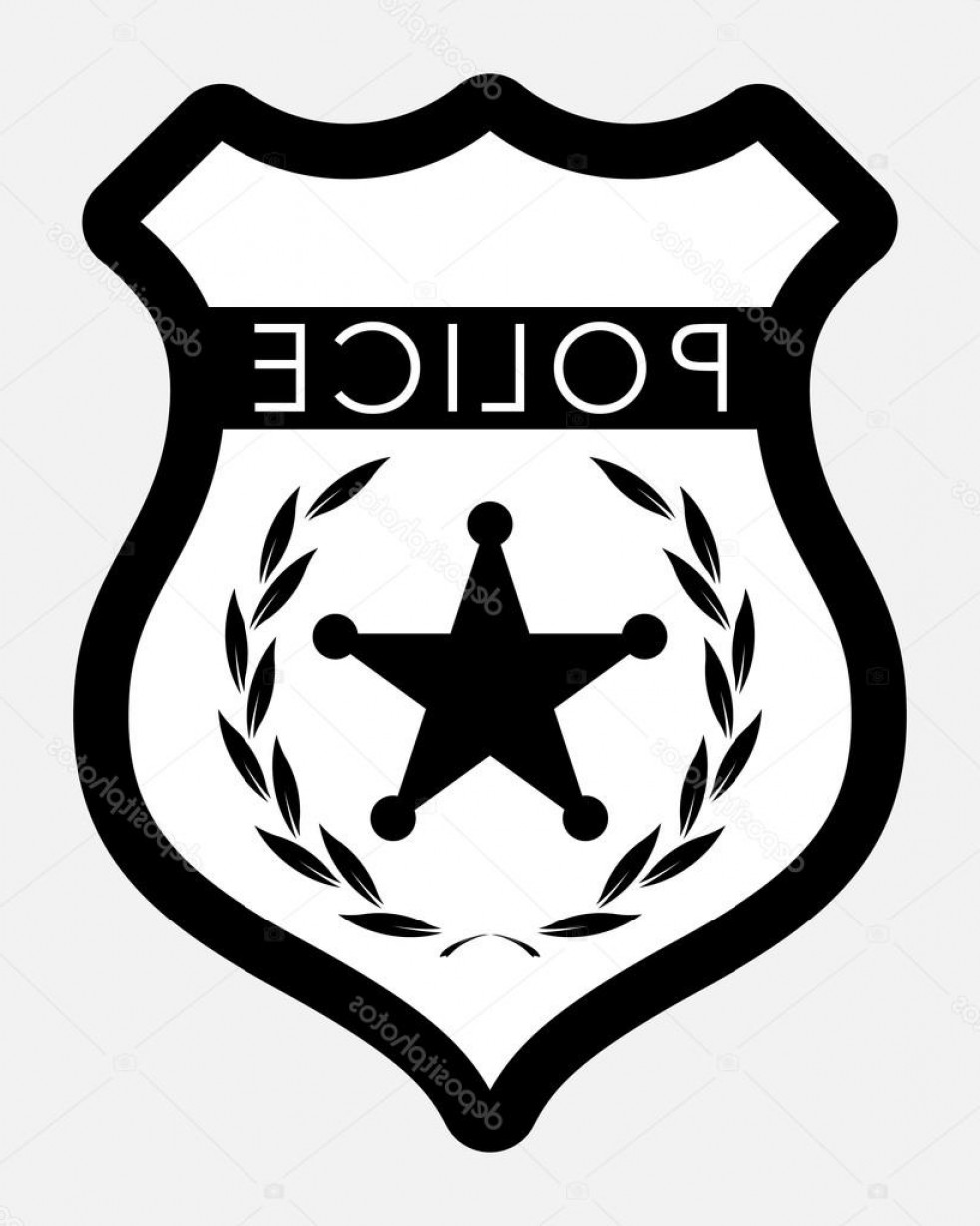 Law Enforcement Badges Vector: Stock Illustration Vector Police Badge Isolated Illustration