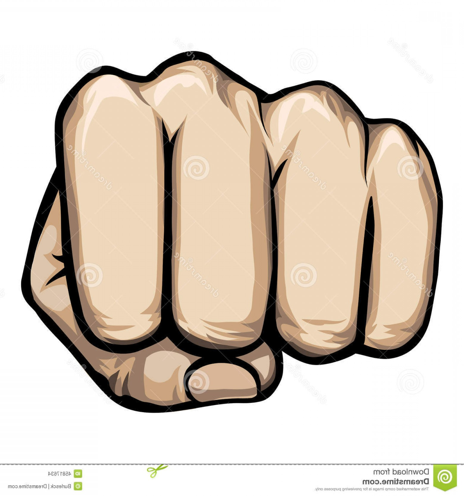 Hand Fist Vector: Stock Illustration Vector Punching Hand Colored Clenched Fist Aimed Directly Viewer White Image