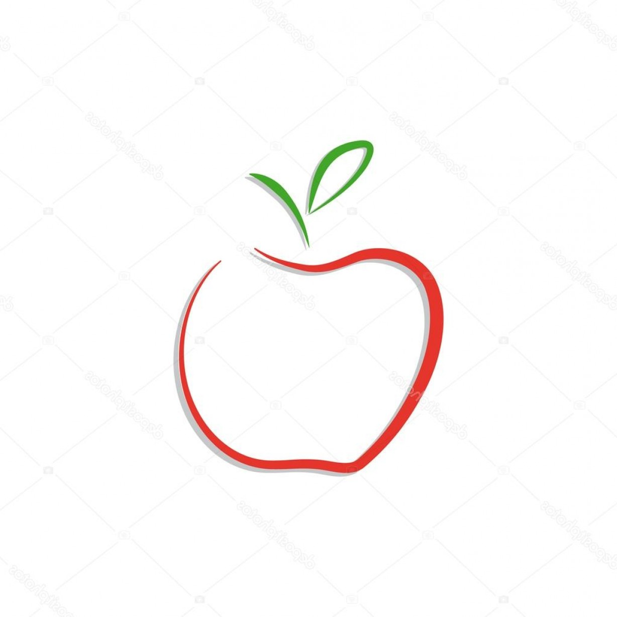 Red Apple Vector Logo: Stock Illustration Vector Red Apple Logo Isolated