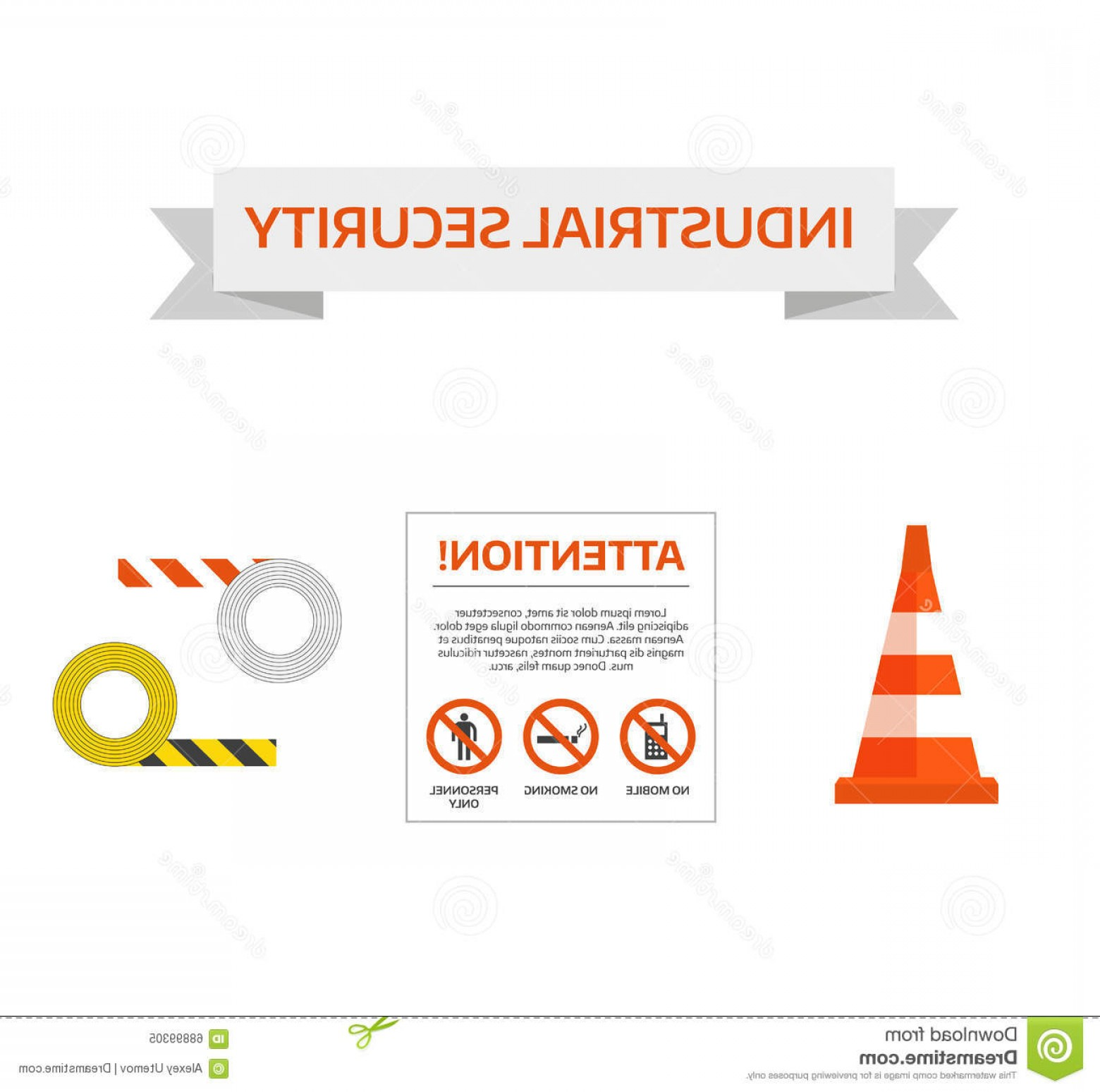 Vector Risk And Safety: Stock Illustration Vector Safety First Road Sign Under Construction Sign Collection Danger Symbol Risk Security Image