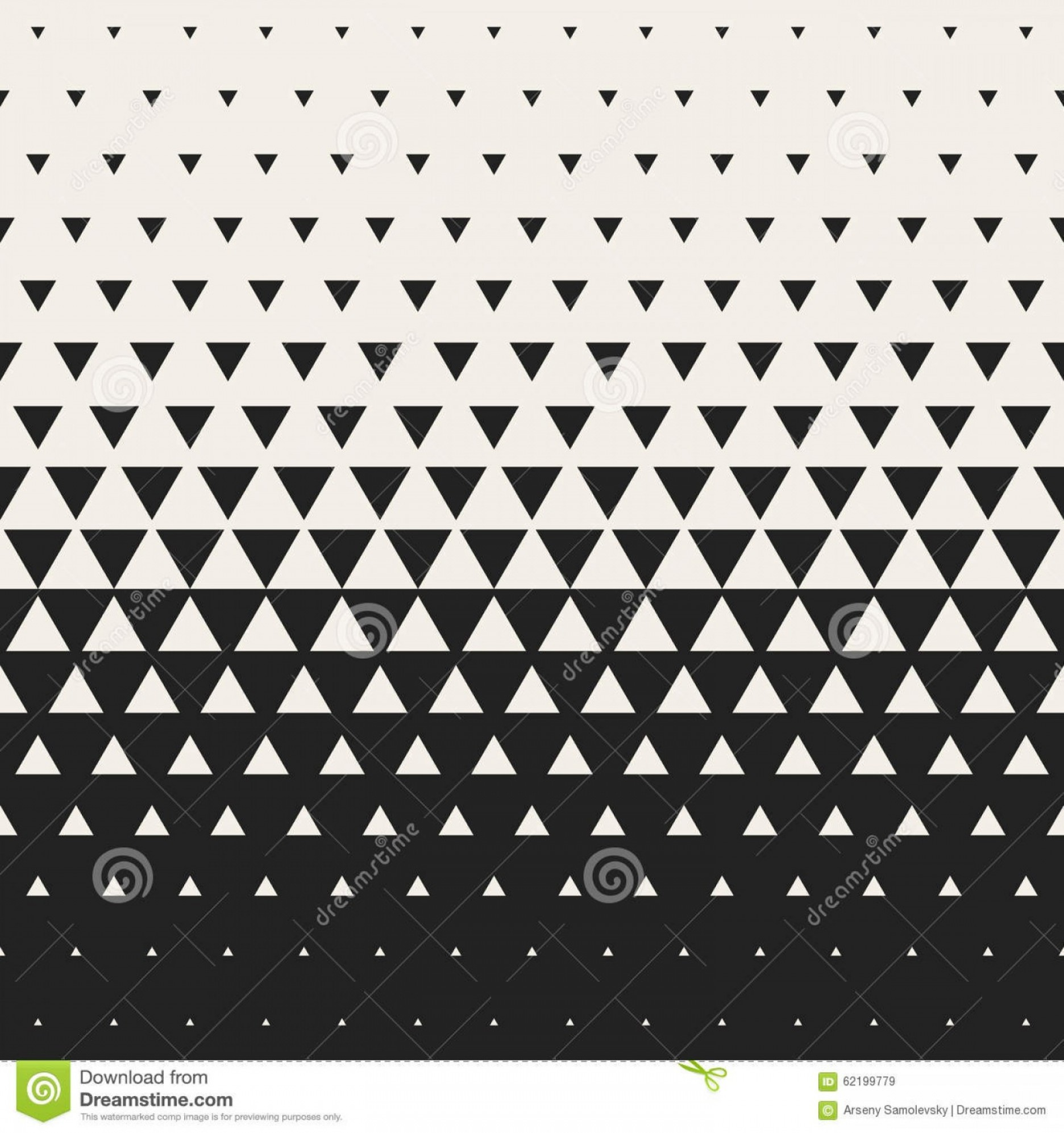 Elegant Patterns Vector Png: Stock Illustration Vector Seamless Black White Morphing Triangle Halftone Grid Gradient Pattern Geometric Background Abstract Image