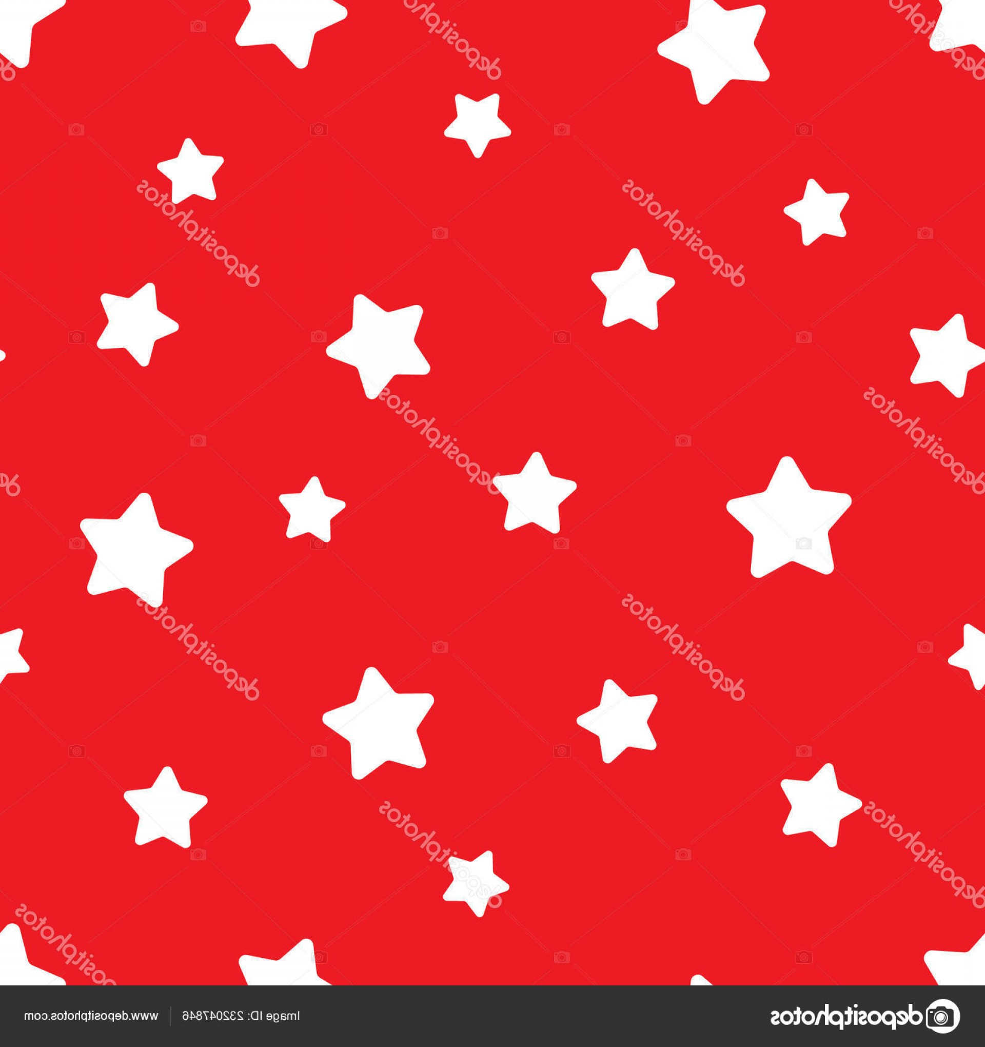 Vector-Based Christmas: Stock Illustration Vector Seamless Stars Pattern Star