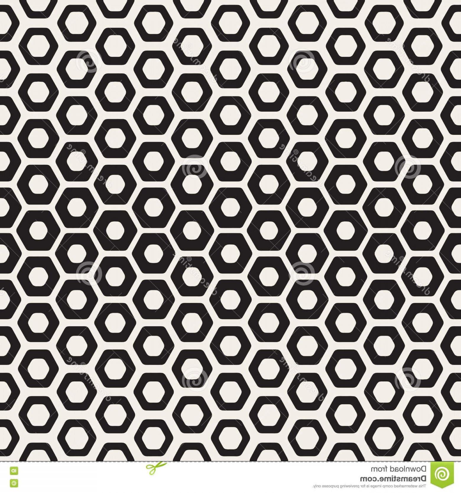 Hexagon Honeycomb Pattern Vector: Stock Illustration Vector Seamless White Black Hexagon Halftone Honeycomb Pattern Abstract Geometric Background Design Image