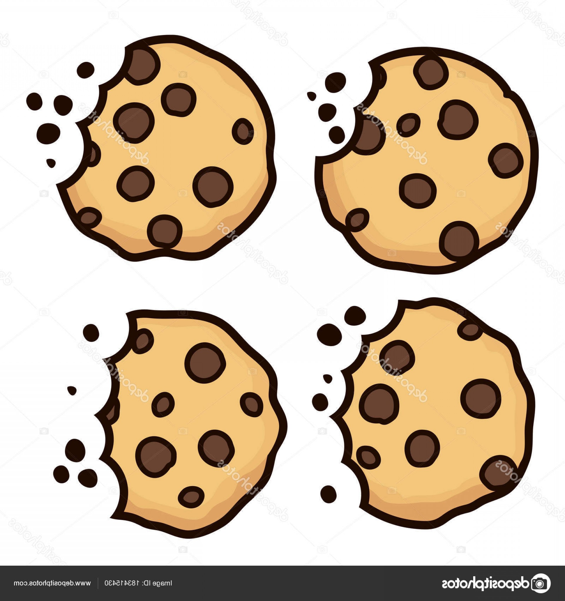 Chocolate Clip Art Vector: Stock Illustration Vector Set Of Chocolate Chip