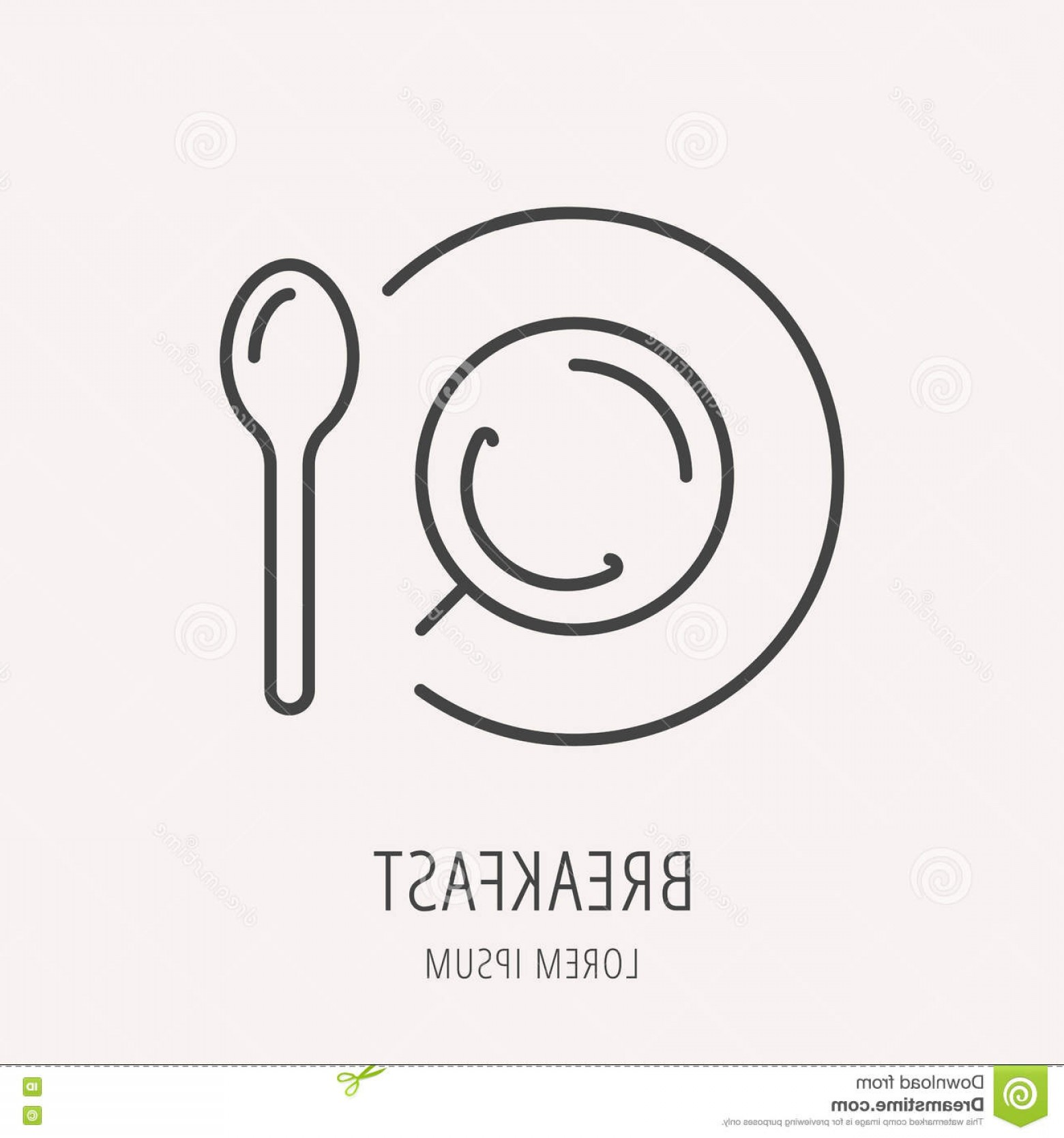 Vector Breakfast Logos: Stock Illustration Vector Simple Logo Template Breakfast Label Line Style Logotype Elements Tea Easy To Use Business Abstract Image