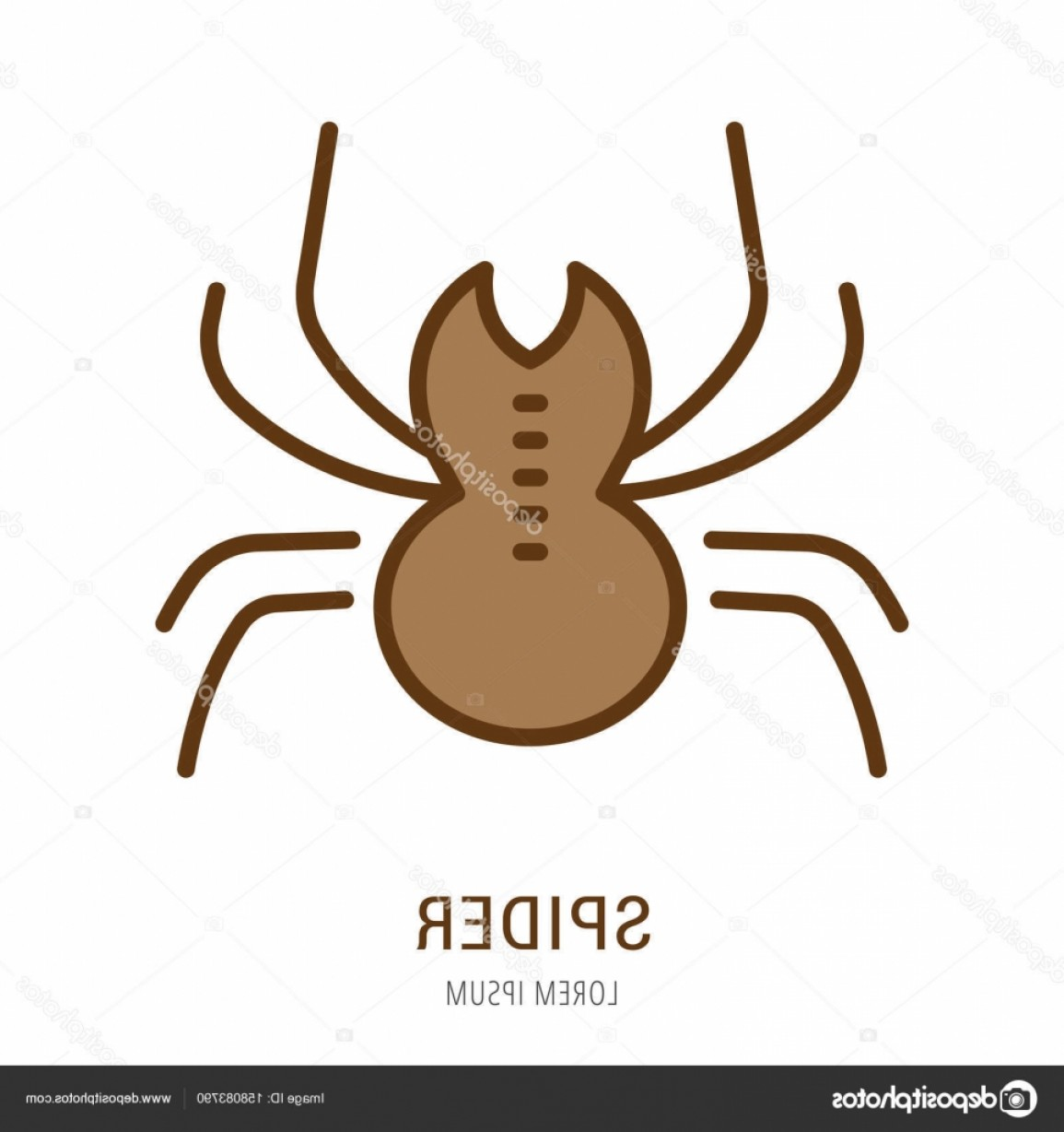 Easy Spider Vector Illustration: Stock Illustration Vector Simple Logo Template Spider