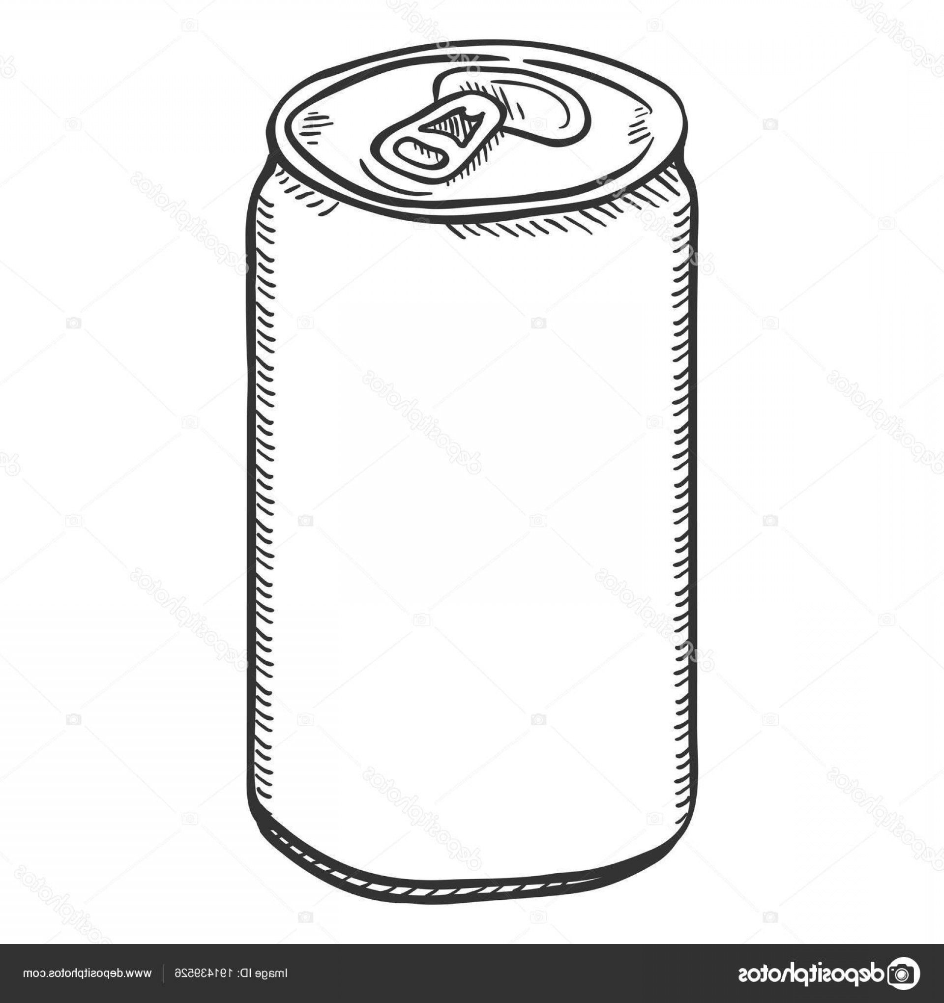 Can Vector: Stock Illustration Vector Single Sketch Blank Beer