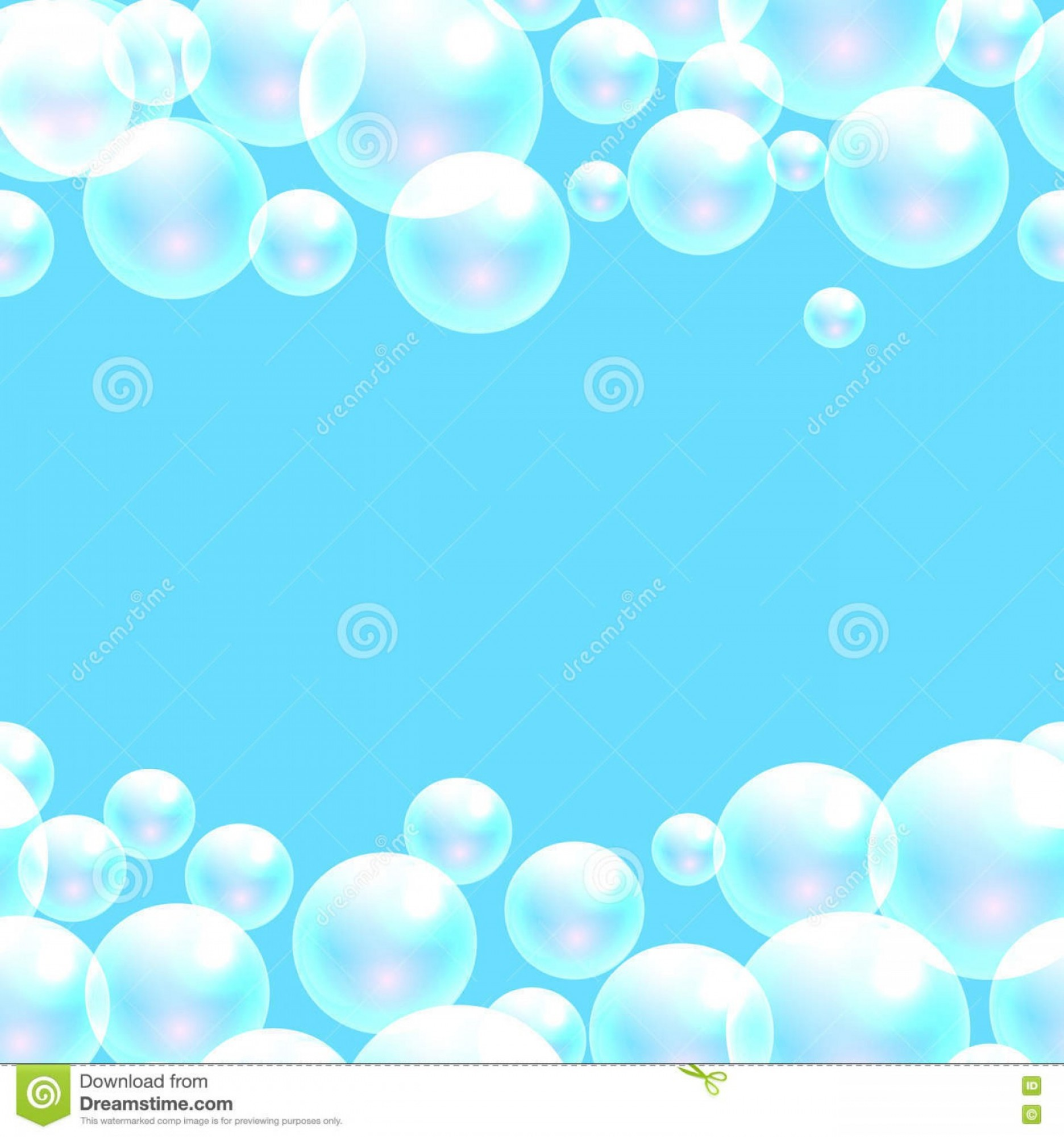 EPS Vector Soap Bubbles: Stock Illustration Vector Soap Bubbles Blue Banner Background Space Text Transparent Washing Powder Package Design Image