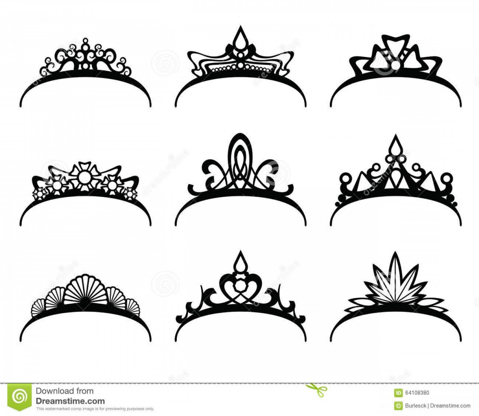 Pageant Tiaras Vector: Stock Illustration Vector Tiaras Set Crown Royal Queen Princess Symbol Royalty Illustration Image