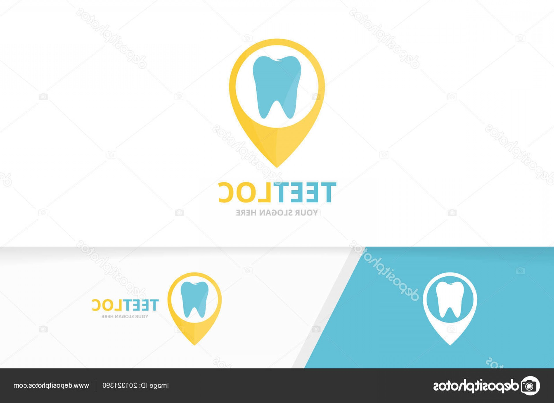 Unique Pointer Vector: Stock Illustration Vector Tooth And Map Pointer