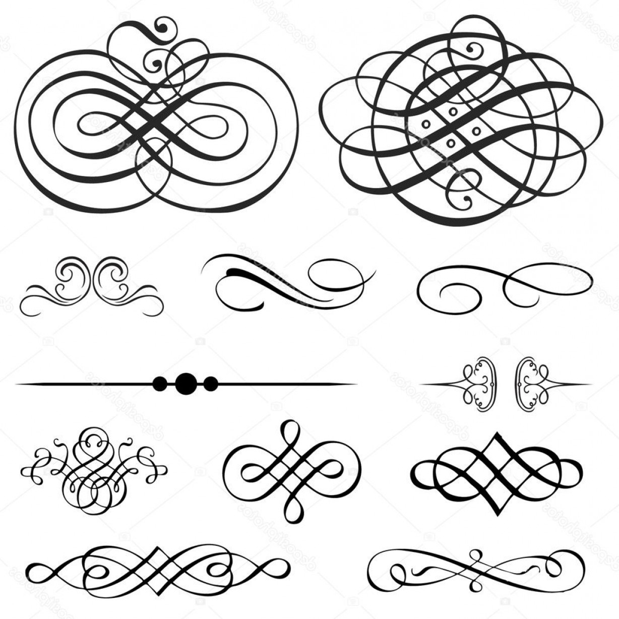 Vector Ornament Sets: Stock Illustration Vector Victorian Ornament Set