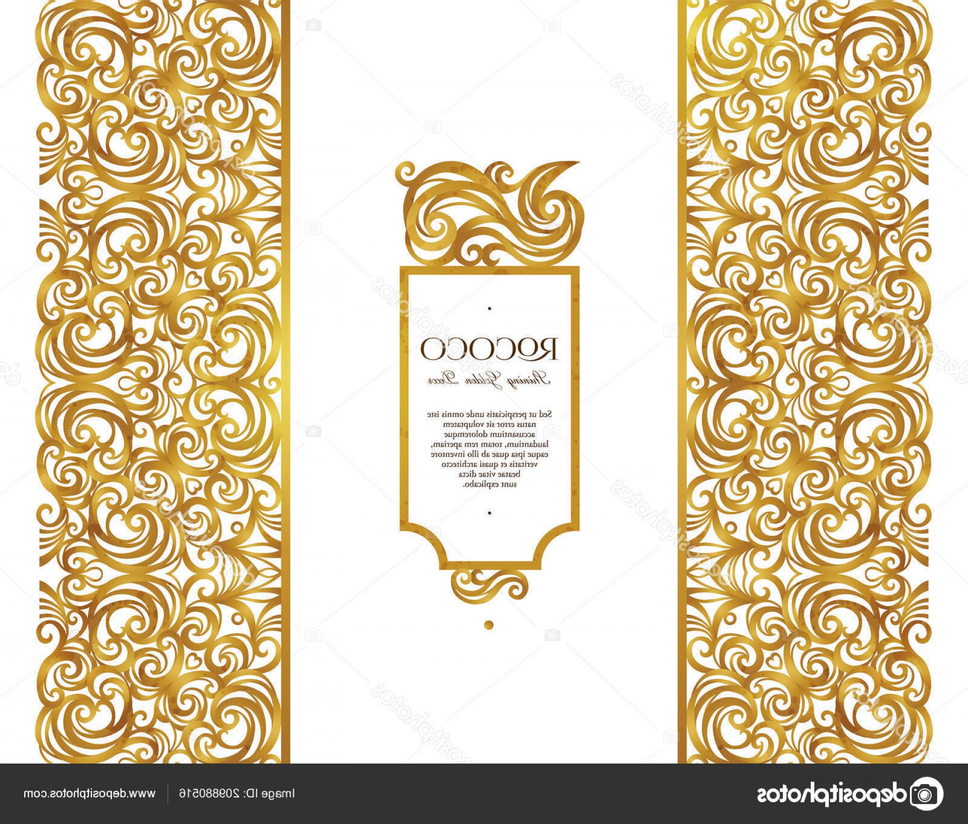 Gold Ornate Borders Vector: Stock Illustration Vector Vintage Frame Ornate Floral