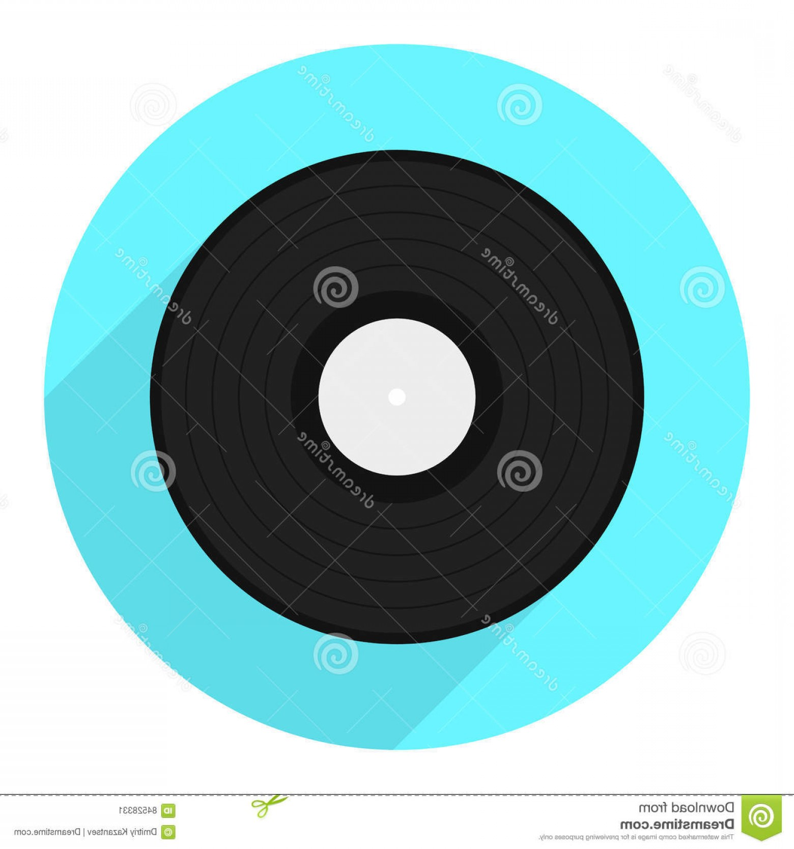 Vinyl Vector Tools: Stock Illustration Vector Vinyl Disk Icon Vinyl Record Flat Icon Eps Image