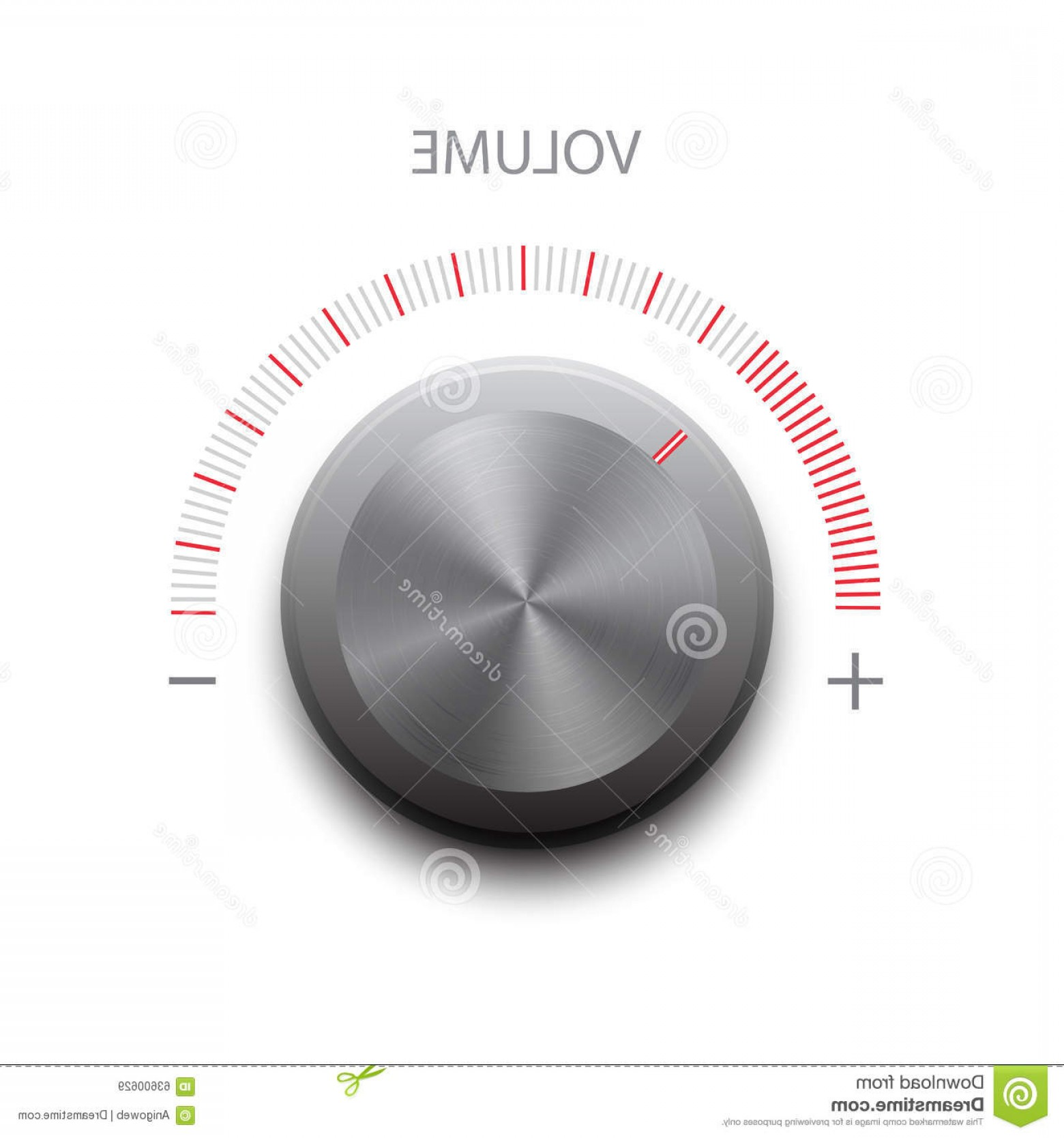 Volume Button Vector: Stock Illustration Vector Volume Button Sound Image