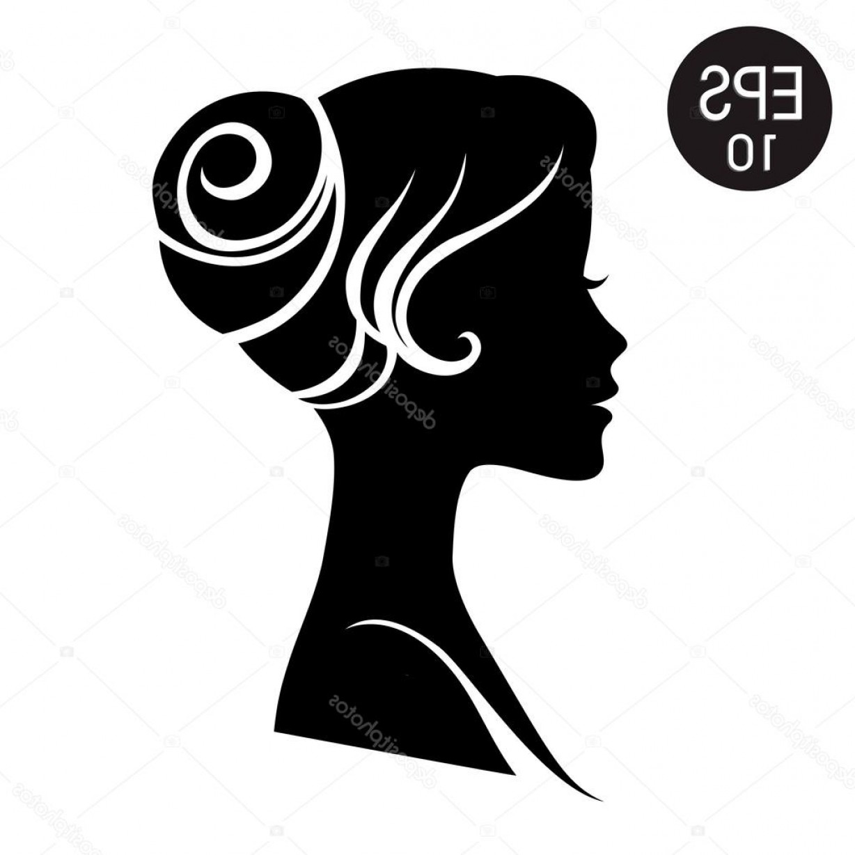 Black Woman Stock Vector: Stock Illustration Vector Woman Face Black Woman