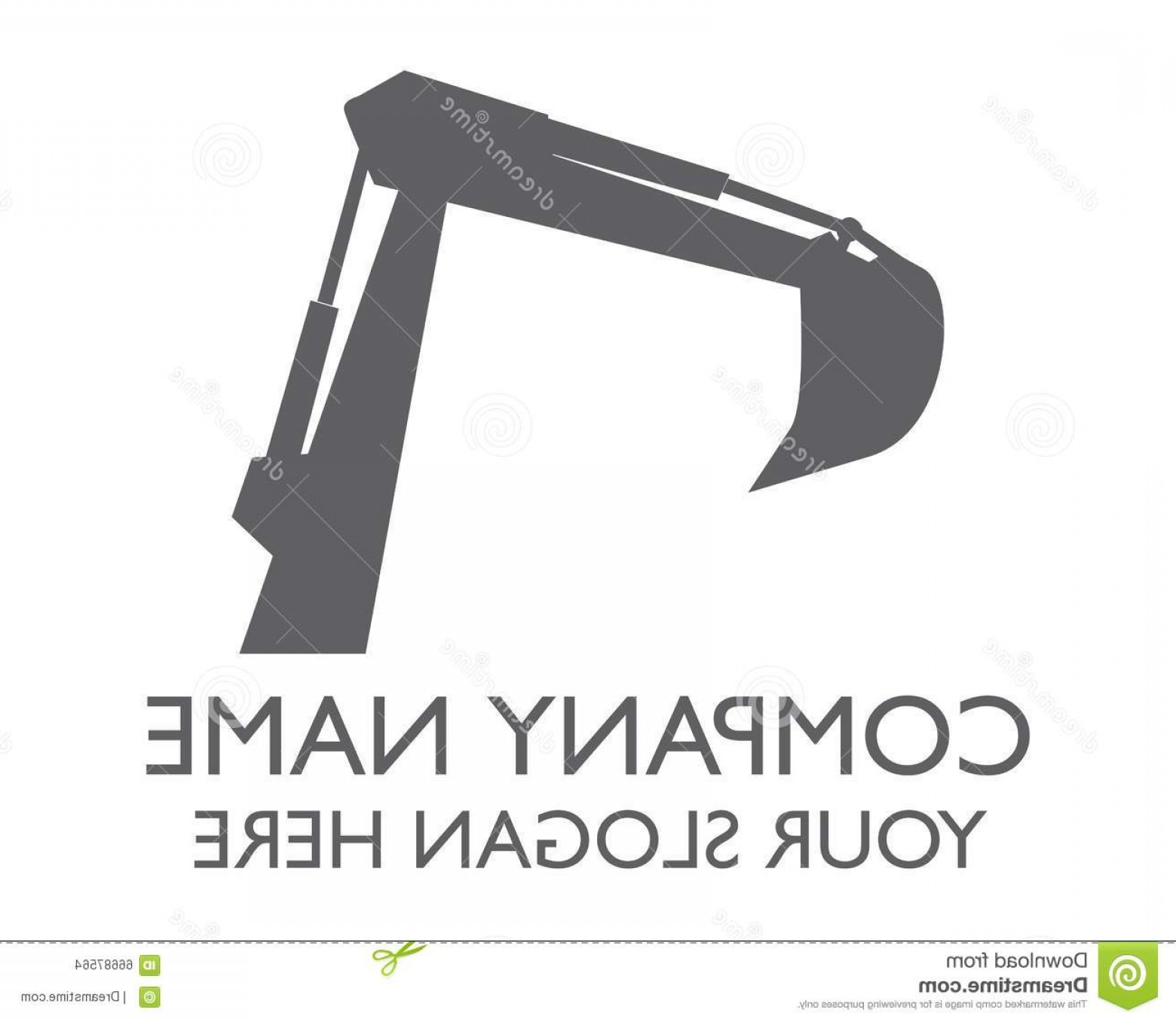 Construction Logos Vector Black And White: Stock Illustration Vehicle Construction Logo Good Your Company Image