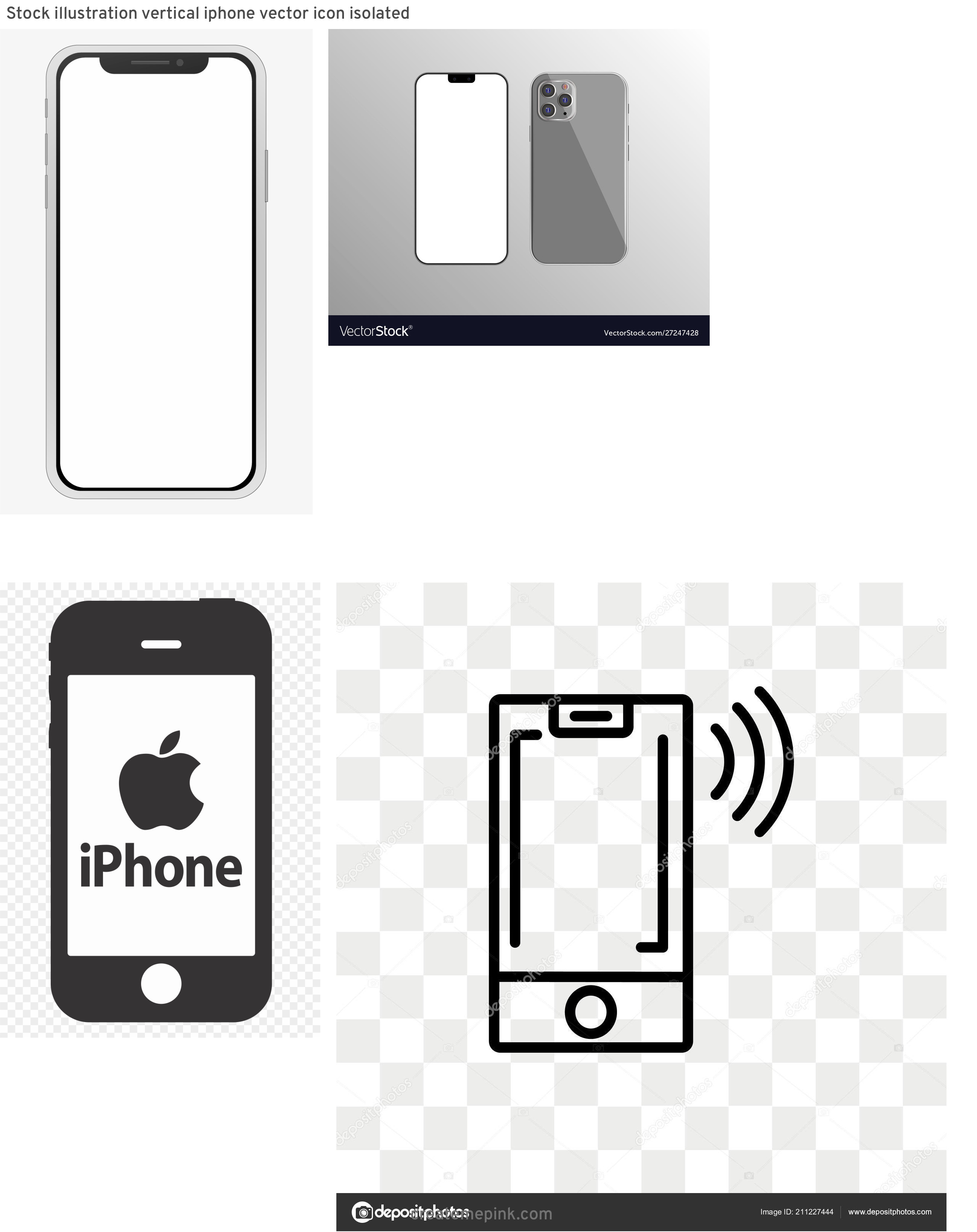 IPhone Vector Transparent Background: Stock Illustration Vertical Iphone Vector Icon Isolated