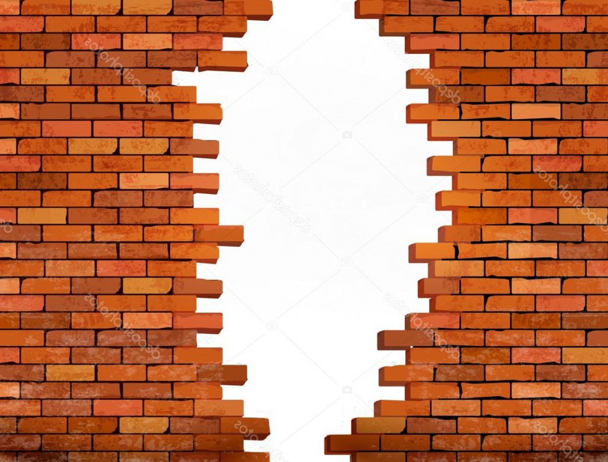 Wall Background Vector: Stock Illustration Vintage Brick Wall Background With