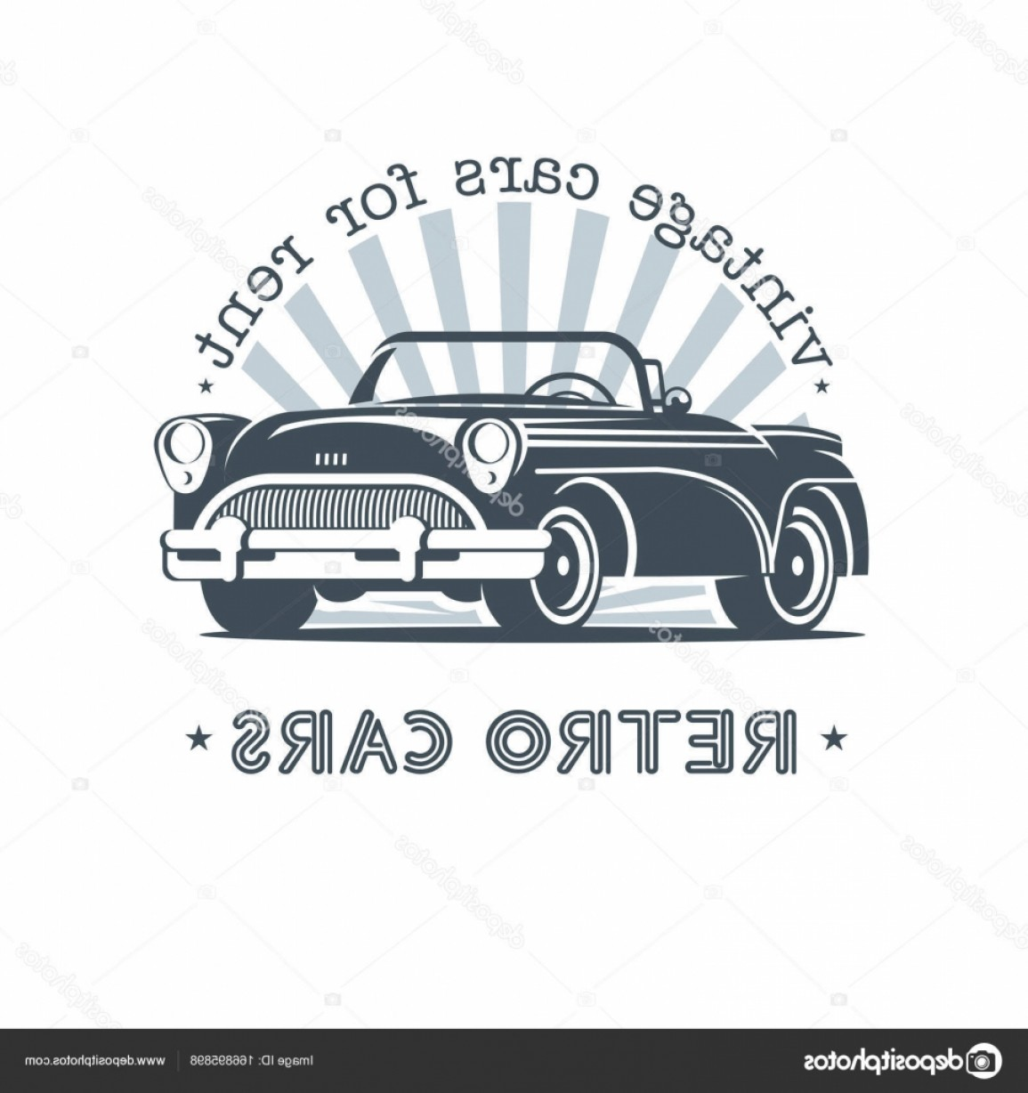Ford Falcon Logo Vector: Stock Illustration Vintage Car Sale Rental Of
