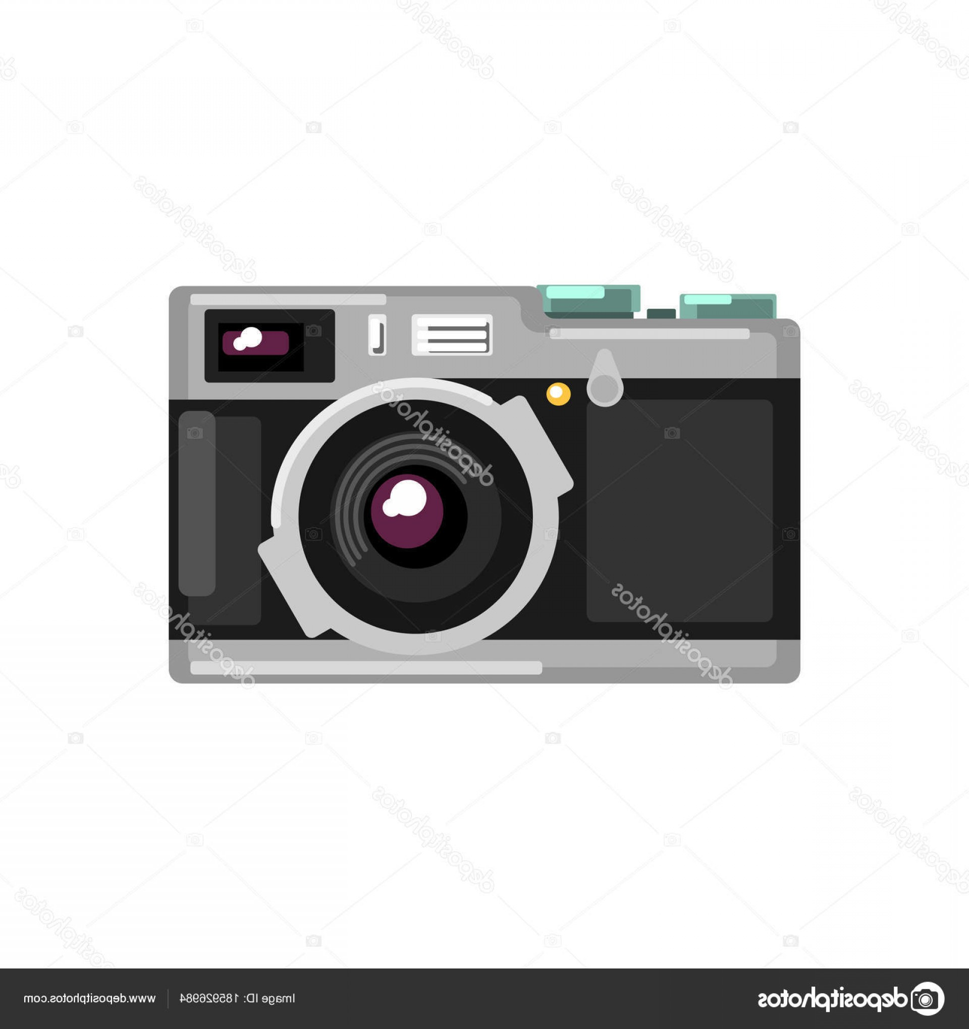 SLR Camera Vector: Stock Illustration Vintage Photo Slr Camera Vector