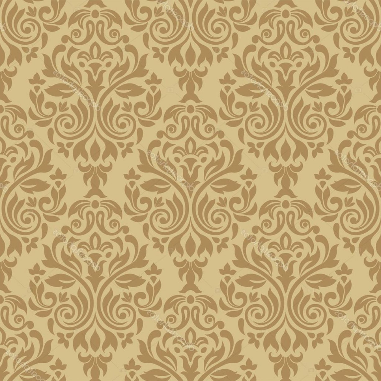 Victorian Motif Vector: Stock Illustration Vintage Seamless Pattern With Victorian