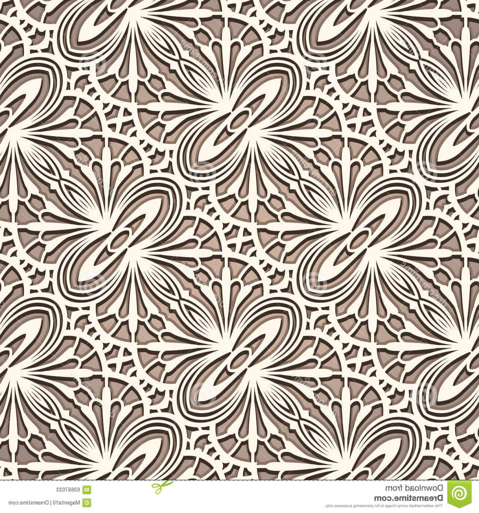 Tulle Black Lace Pattern Vector: Stock Illustration Vintage Tulle Ornament Seamless Lace Pattern Lacy Texture Embroidery Ornamental Background Image