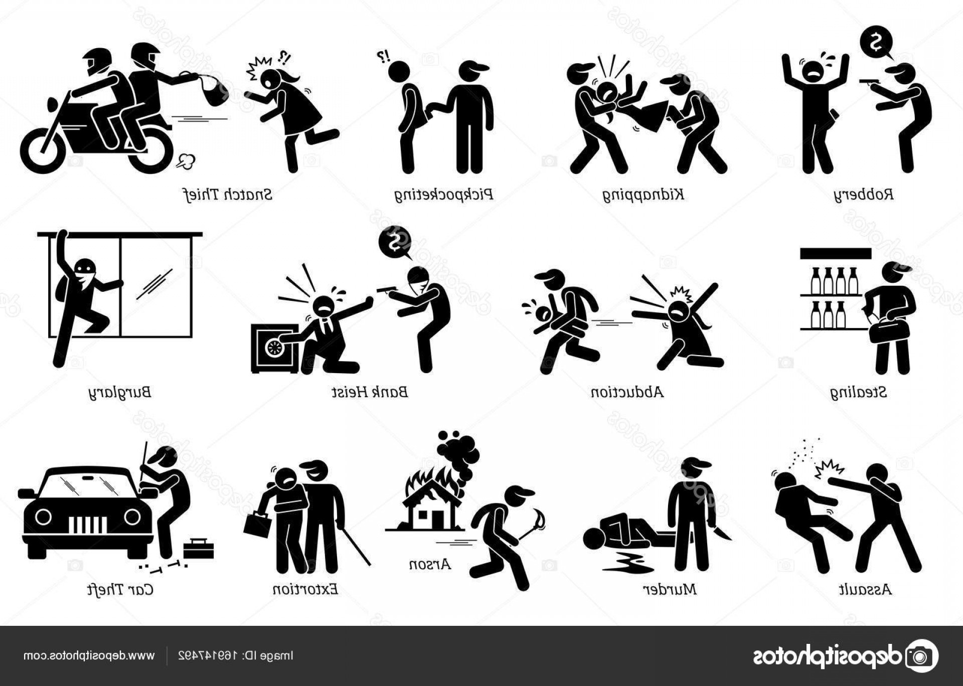Violent Vector Art: Stock Illustration Violence Violent Crime And Criminal
